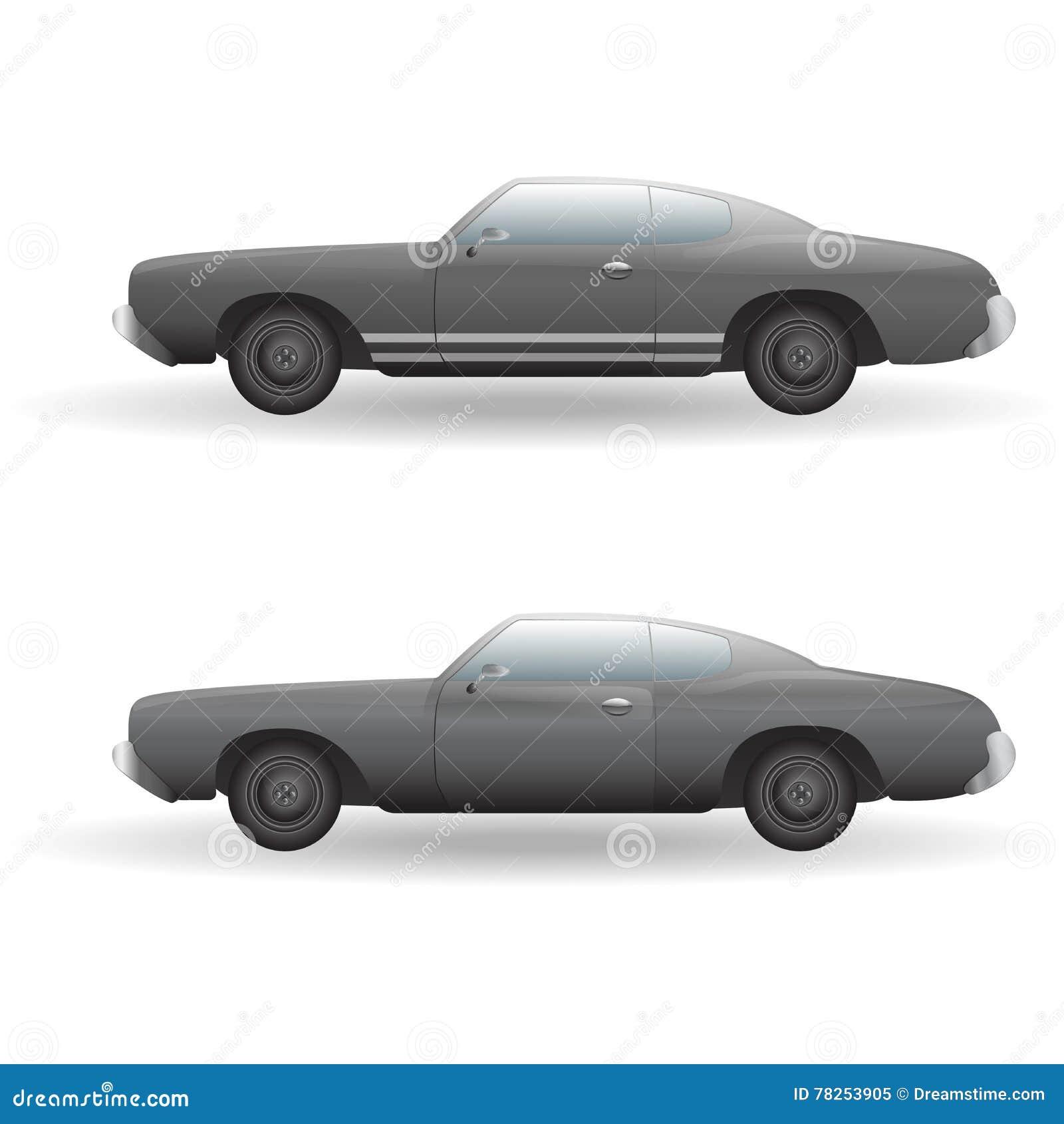 Εικονίδιο αυτοκινήτων μυών Πλάγια όψη επίσης corel σύρετε το διάνυσμα απεικόνισης