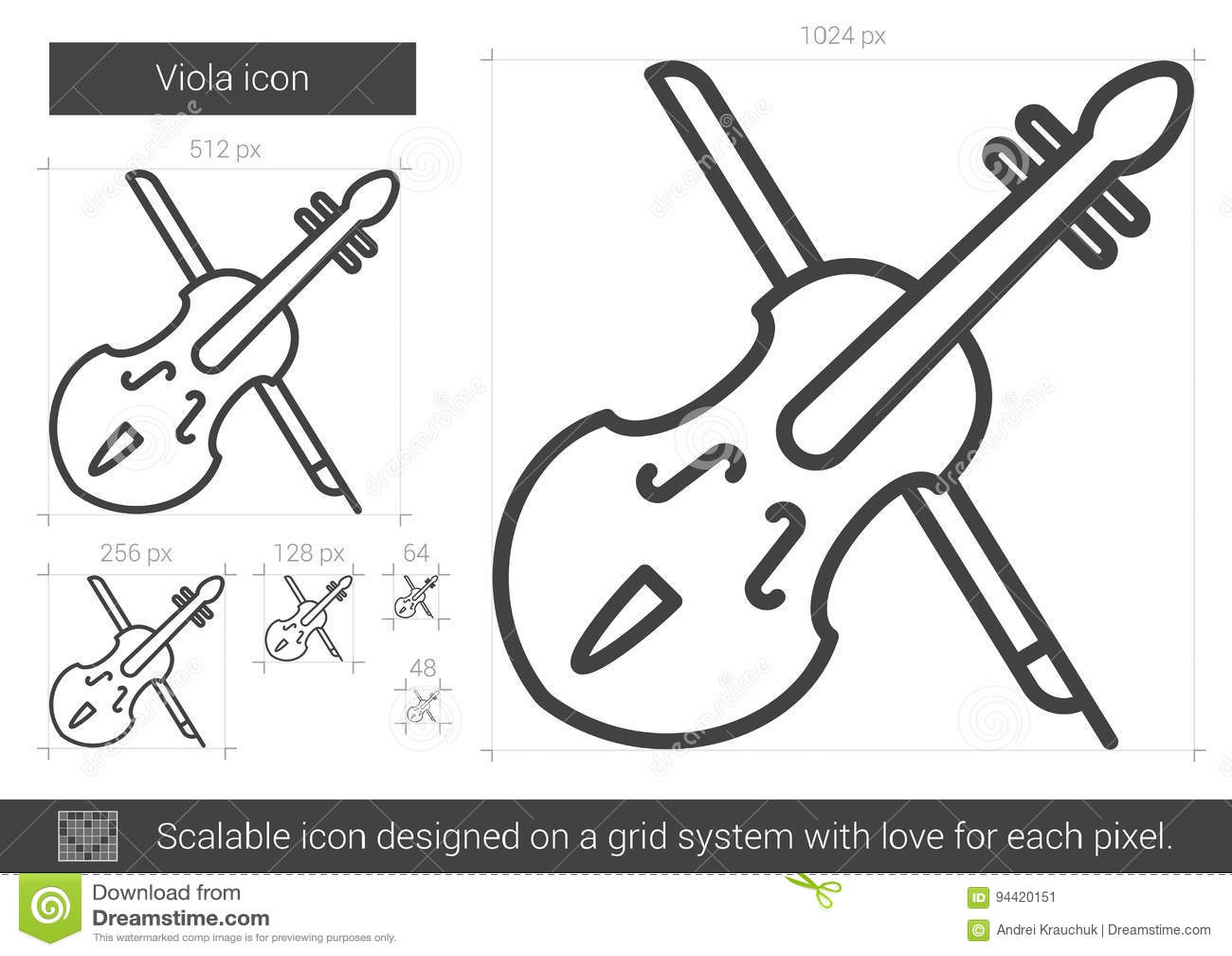 Εικονίδιο γραμμών Viola
