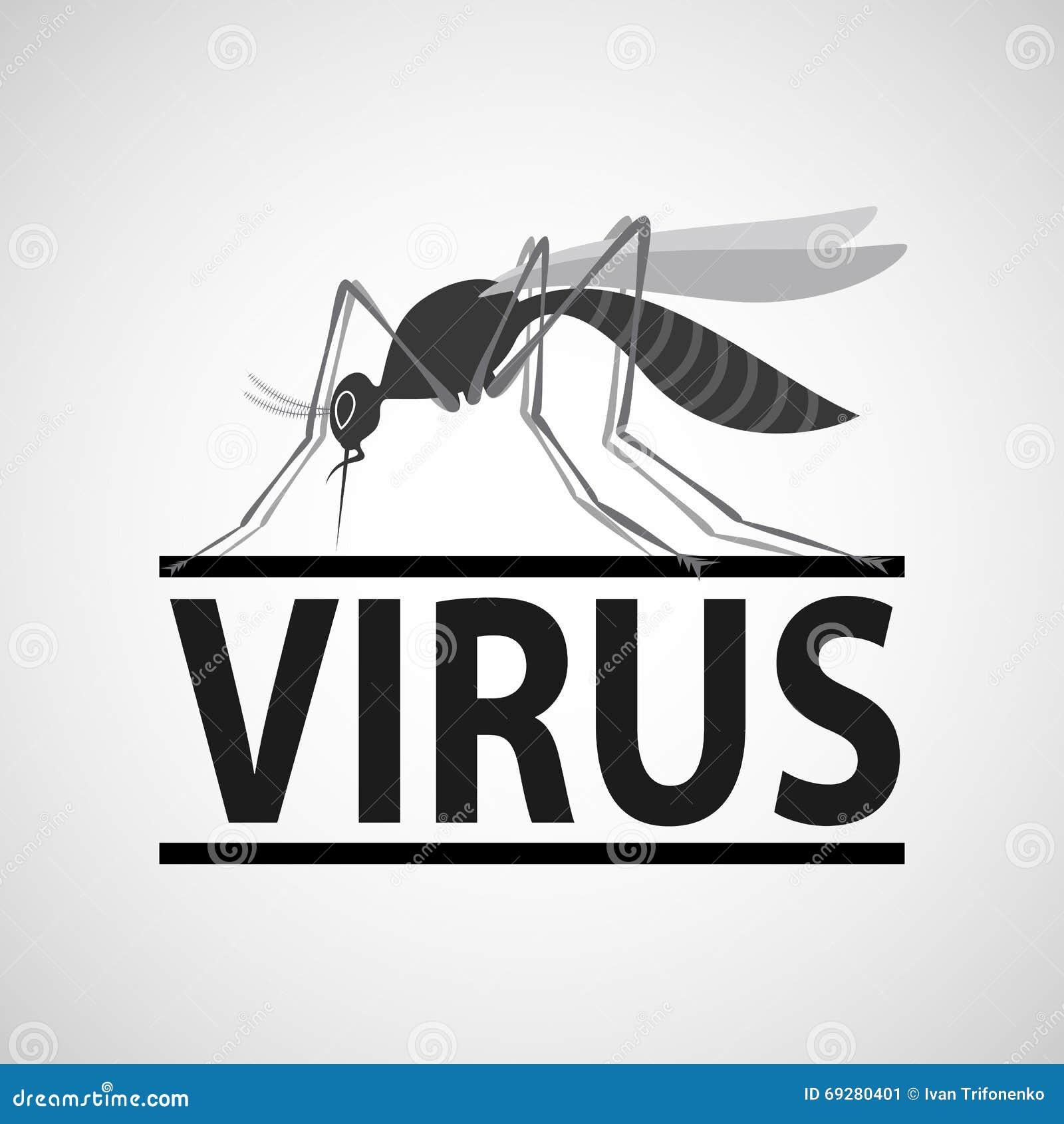 Εικονίδιο κουνουπιών με το απότομο χτύπημα που απομονώνεται στο άσπρο υπόβαθρο Zika VI