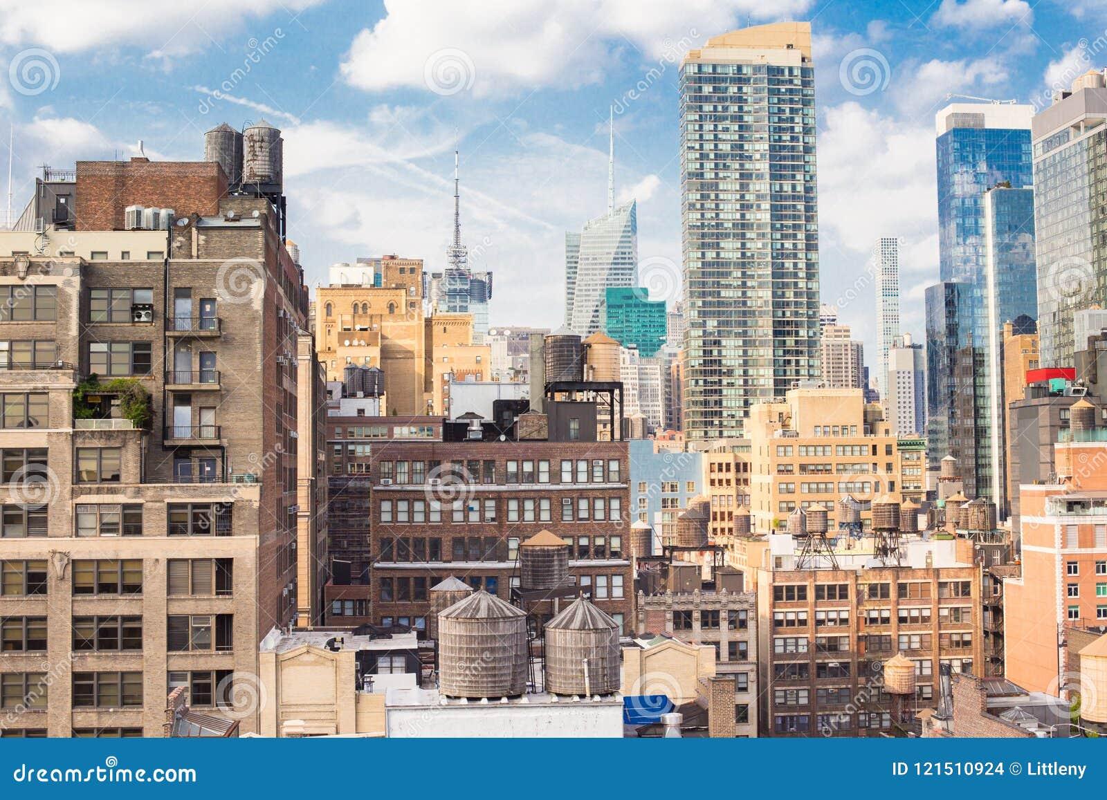 Εικονική παράσταση πόλης Μανχάταν πόλεων της Νέας Υόρκης