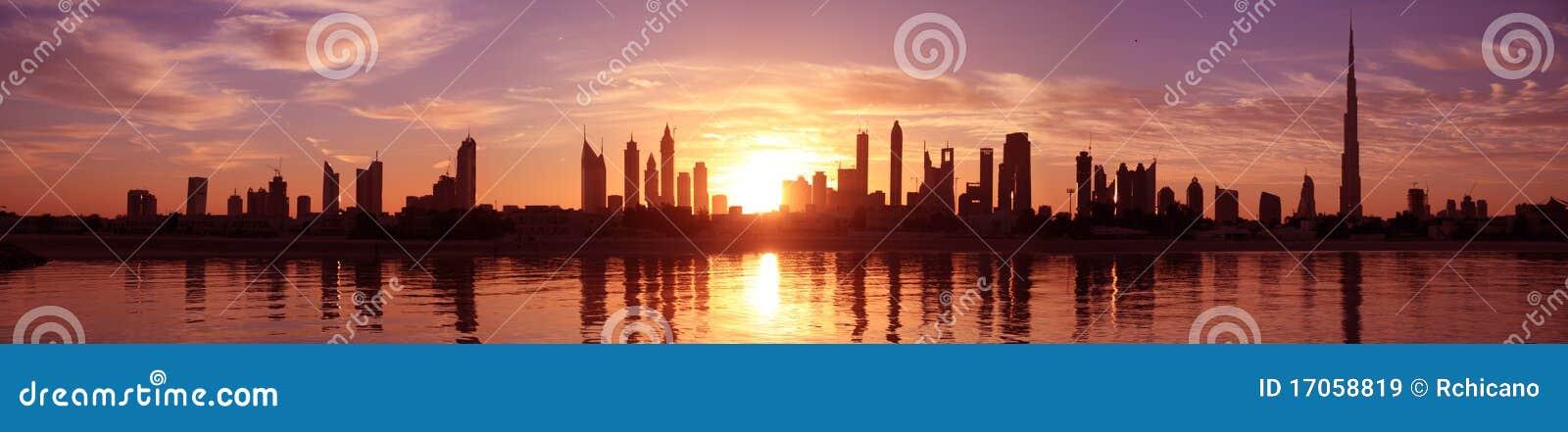 Εικονική παράσταση πόλης Ντουμπάι, ανατολή