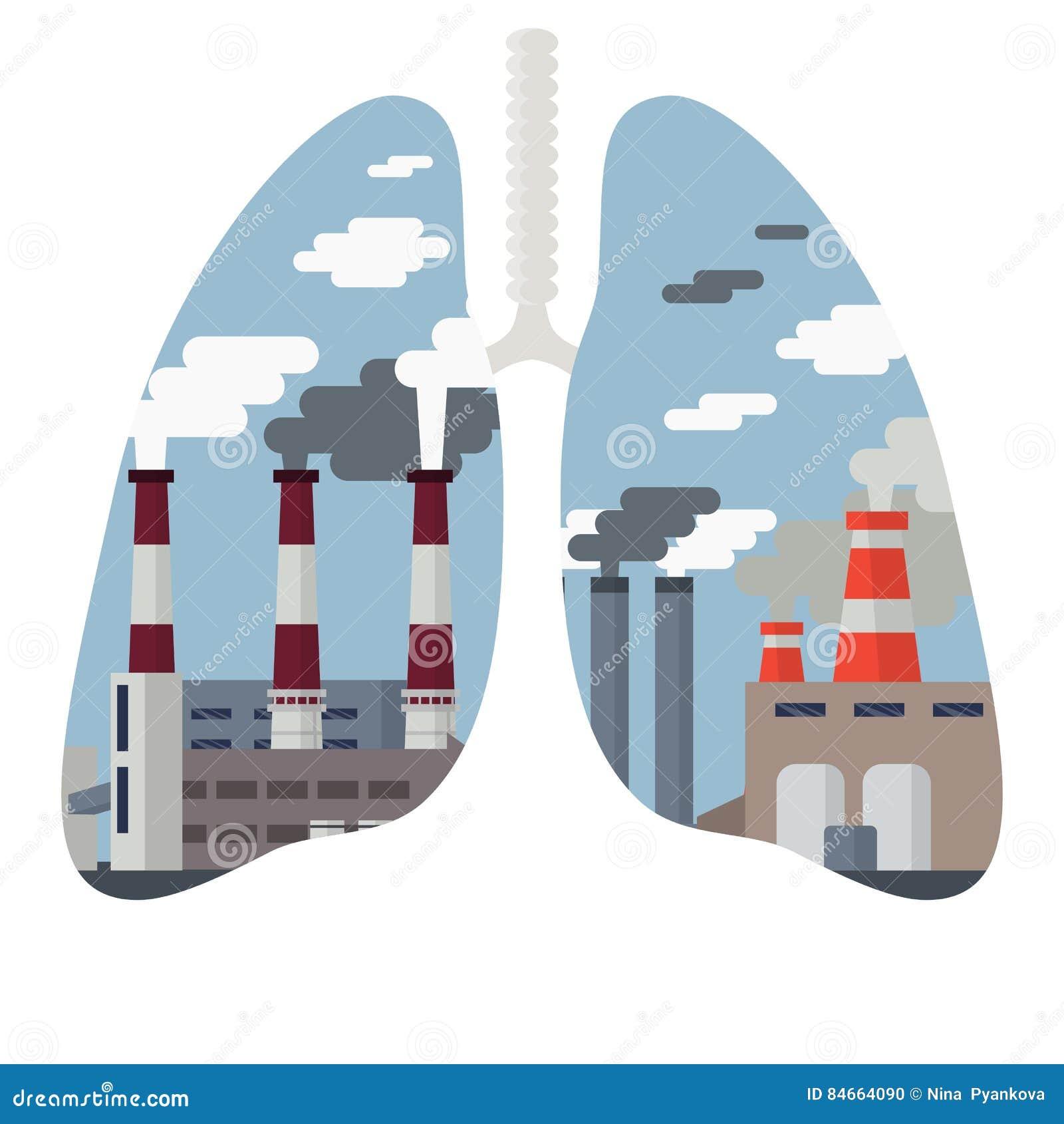 Εικονική παράσταση πόλης ατμοσφαιρικής ρύπανσης