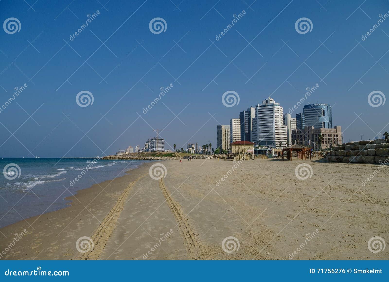 Εικονική παράσταση πόλης του Τελ Αβίβ και πανόραμα παραλιών από την πλευρά του παλαιού por Jaffa