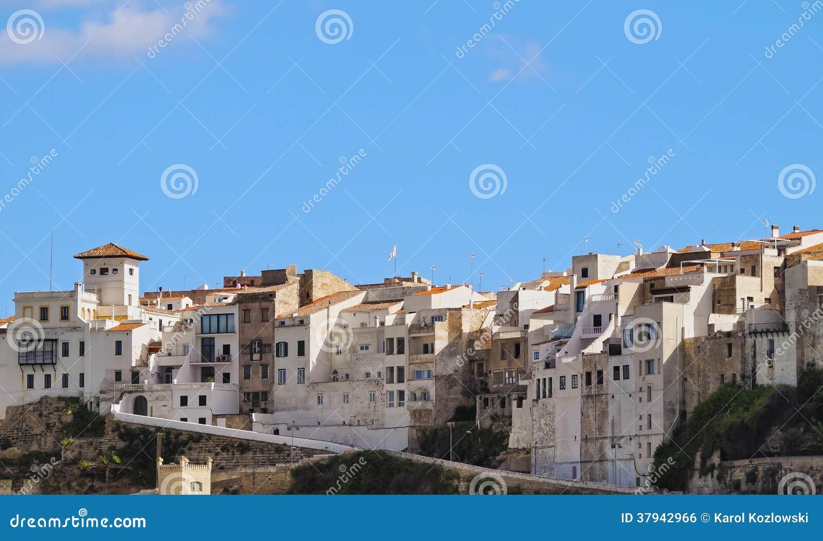 Εικονική παράσταση πόλης Mahon σε Minorca