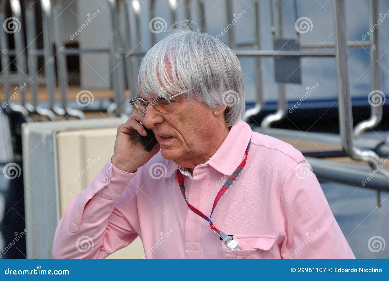 Bernie Ecclestone, προϊστάμενος της διαχείρισης Formula 1