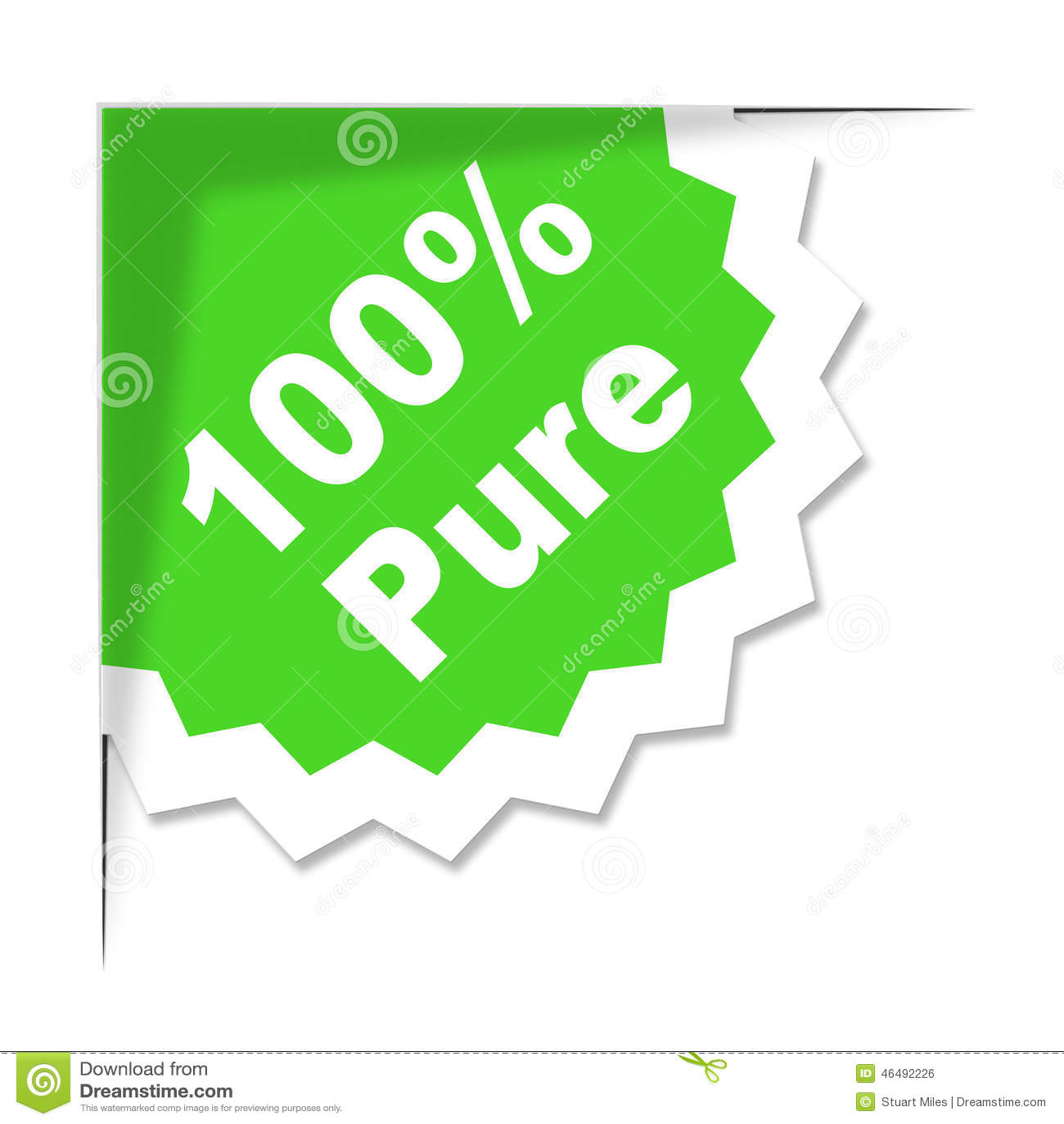Εκατό τοις εκατό δείχνουν τα οργανικά προϊόντα και εντελώς