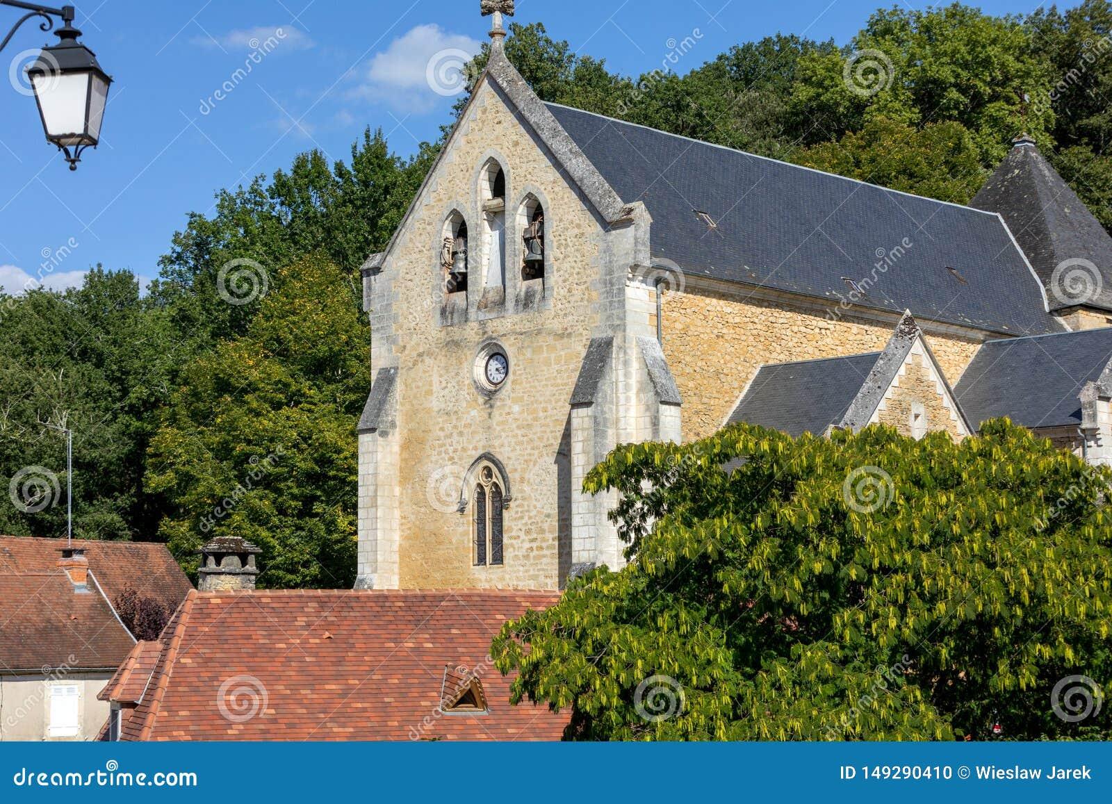 Εκκλησία Αγίου Catherine σε Carlux Κοιλάδα Dordogne, Aquitaine,