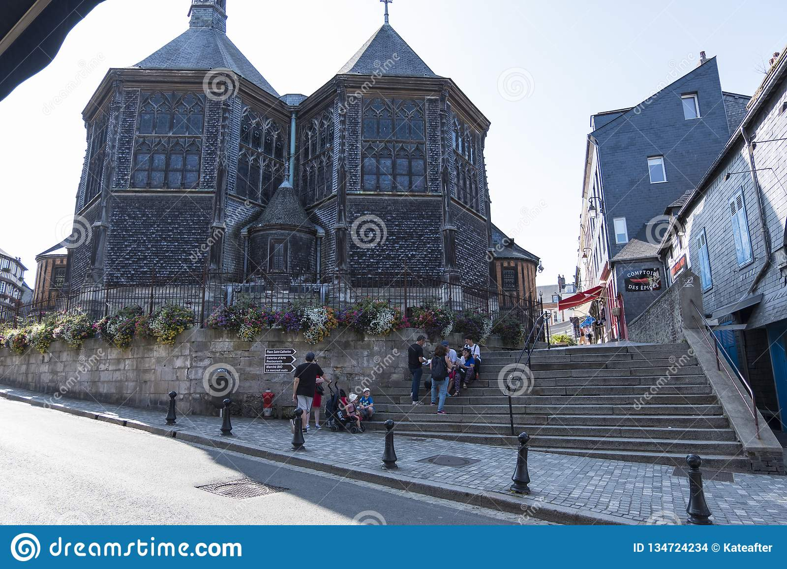 Εκκλησία Αγίου Catherine στην παλαιά πόλη Honfleur Μεγαλύτερη ξυλεία-χτισμένη εκκλησία της Γαλλίας Γαλλία Νορμανδία