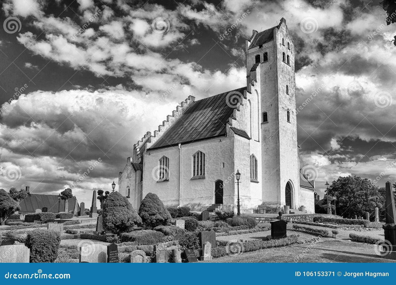 Εκκλησία Alstad Fru στο bw