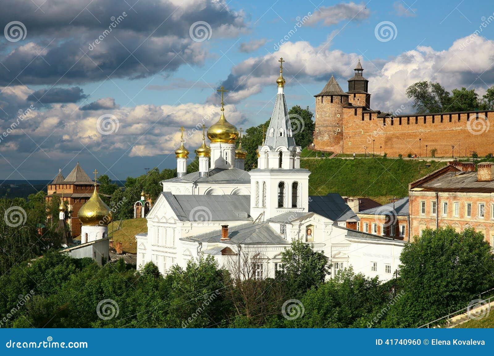 Εκκλησία και Κρεμλίνο Nizhny Novgorod