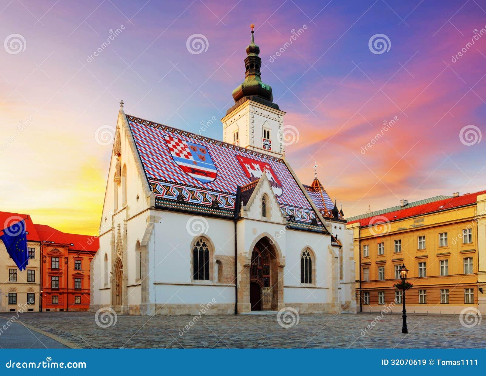 Εκκλησία του Ζάγκρεμπ - σημάδι του ST