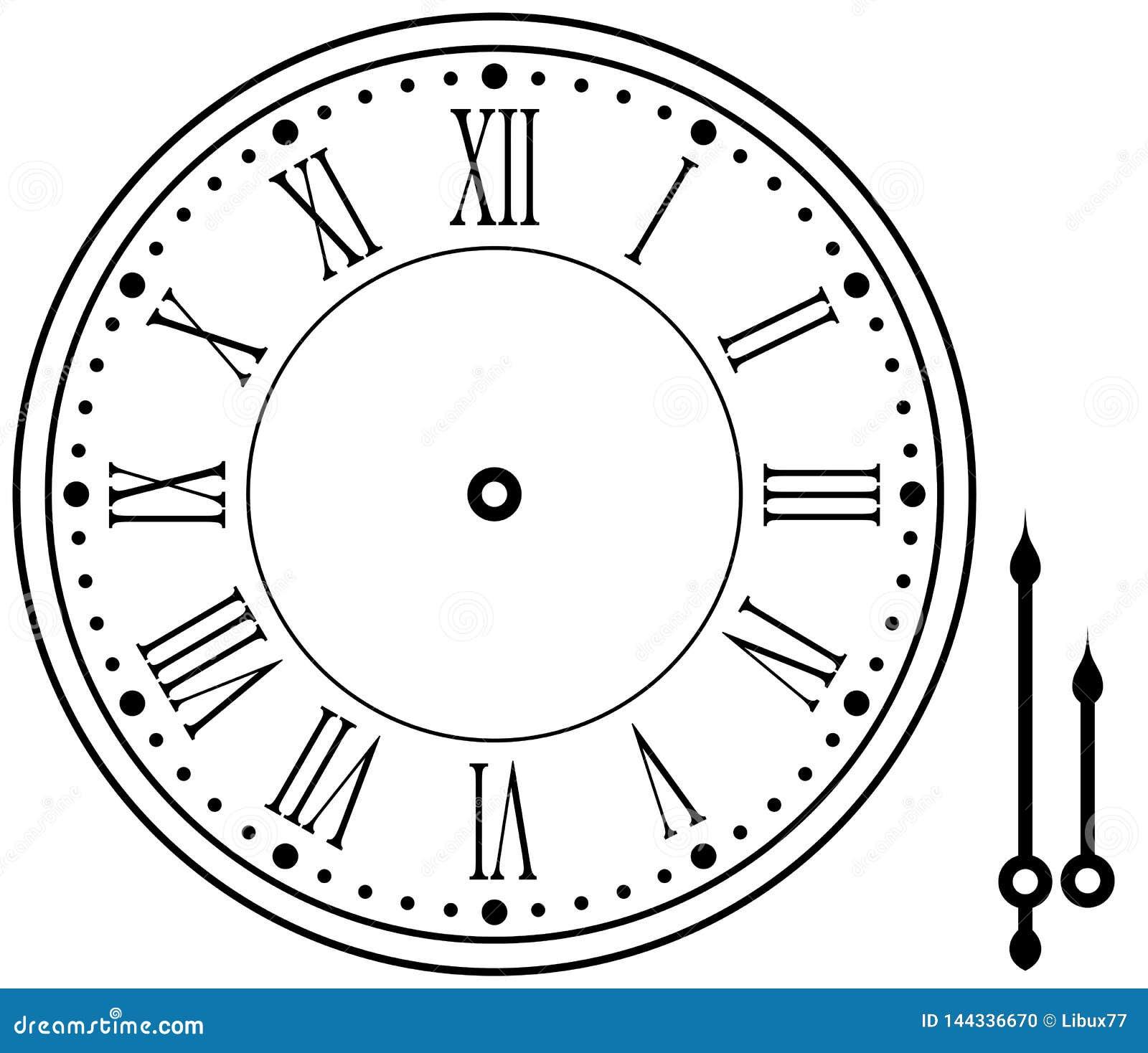 Εκλεκτής ποιότητας ή αναδρομικό ρολόι εικονιδίων με τα χέρια που απομονώνονται στο λευκό Έτοιμος για τη ζωτικότητα