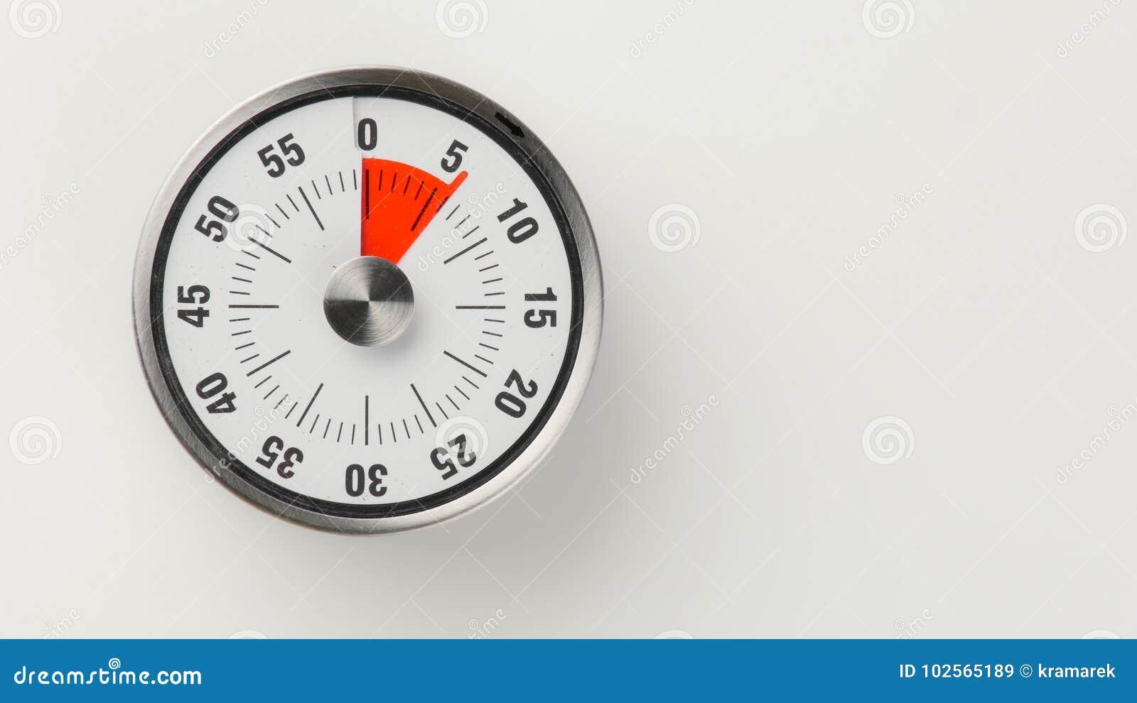 Εκλεκτής ποιότητας αναλογικό χρονόμετρο αντίστροφης μέτρησης κουζινών, παραμονή 6 λεπτών