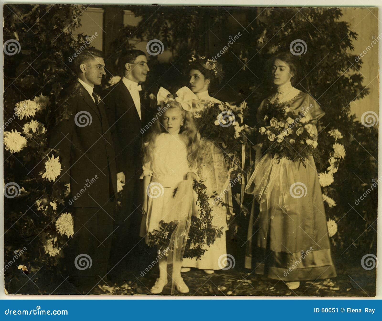 Download εκλεκτής ποιότητας γάμος Circa του 1915 Στοκ Εικόνα - εικόνα από νεόνυμφος, past: 60051