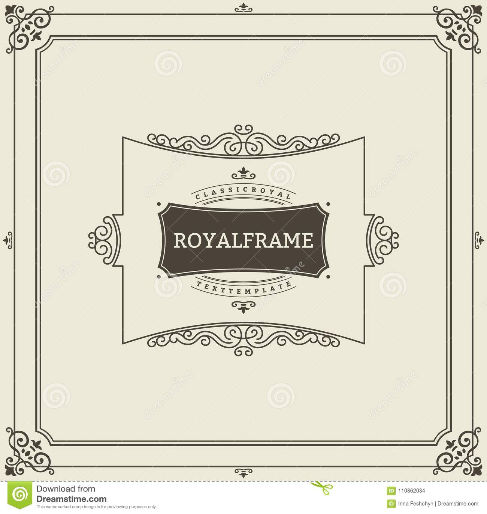 Εκλεκτής ποιότητας διανυσματικό πρότυπο ευχετήριων καρτών διακοσμήσεων Αναδρομική πρόσκληση πολυτέλειας, βασιλικό πιστοποιητικό Α