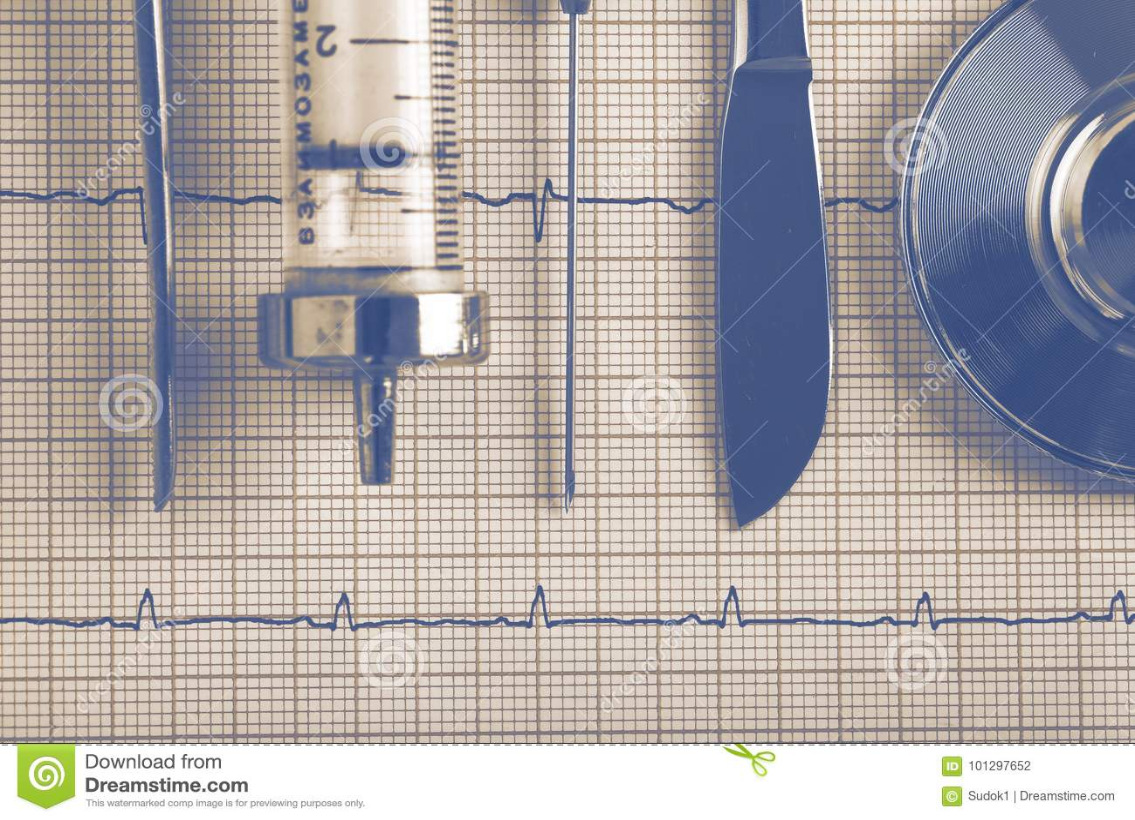 Εκλεκτής ποιότητας ιατρική εξάρτηση εργαλείων στο ECG