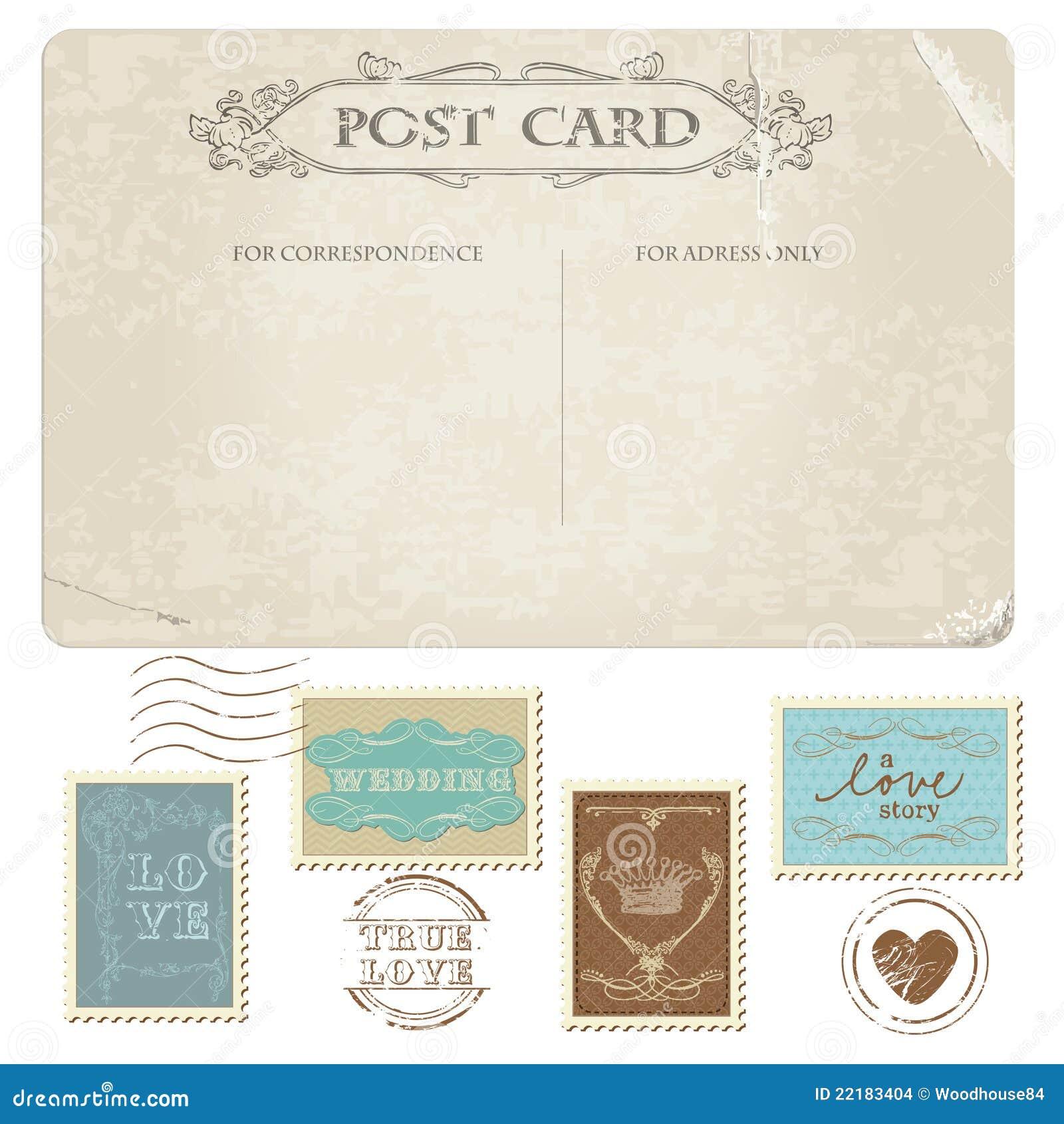 Εκλεκτής ποιότητας κάρτα και γραμματόσημα