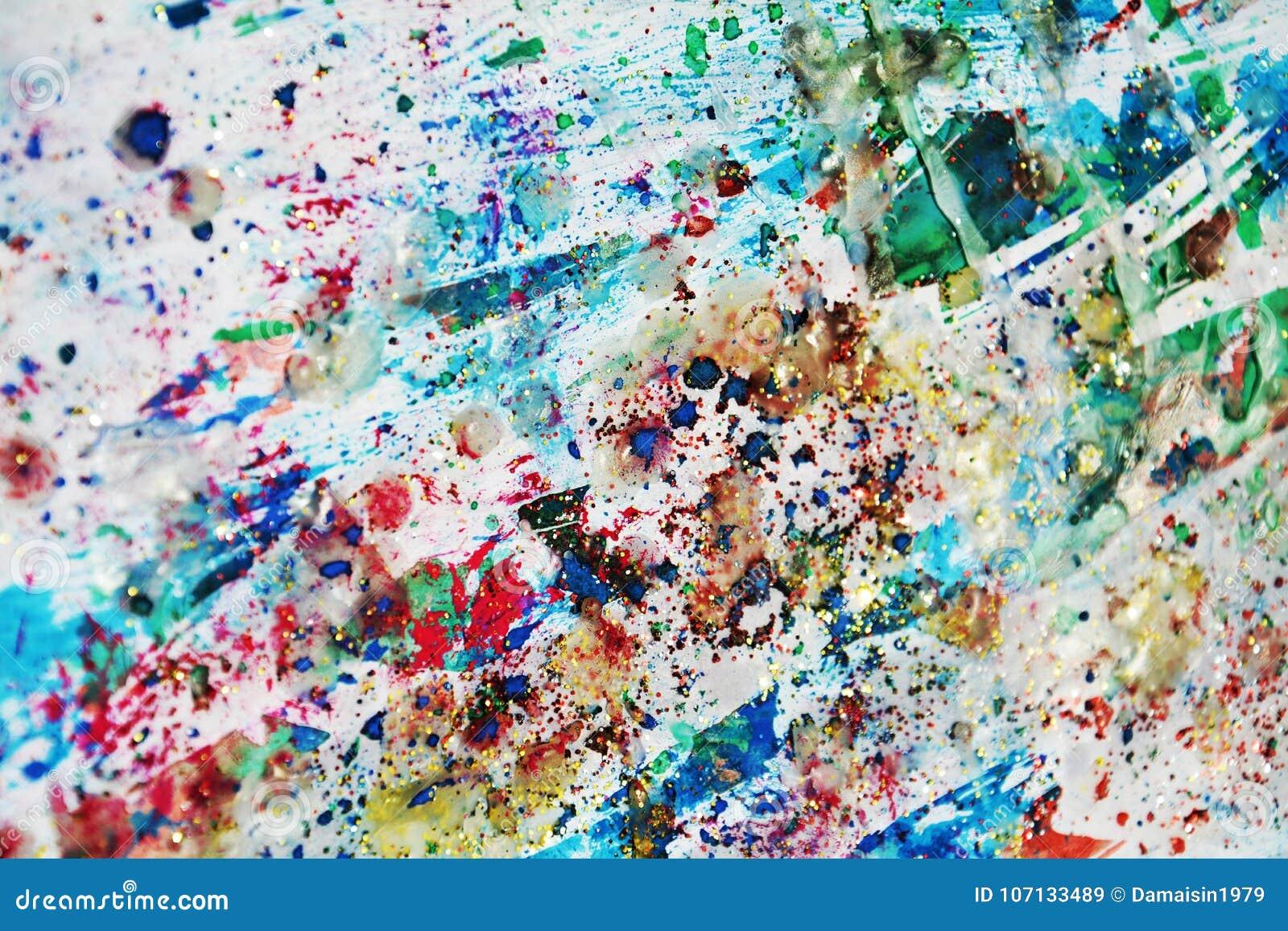 Εκλεκτής ποιότητας κέρινα σημεία φω των κρητιδογραφιών χρυσά πράσινα λαμπιρίζοντας, χρώμα watercolor, ζωηρόχρωμα χρώματα