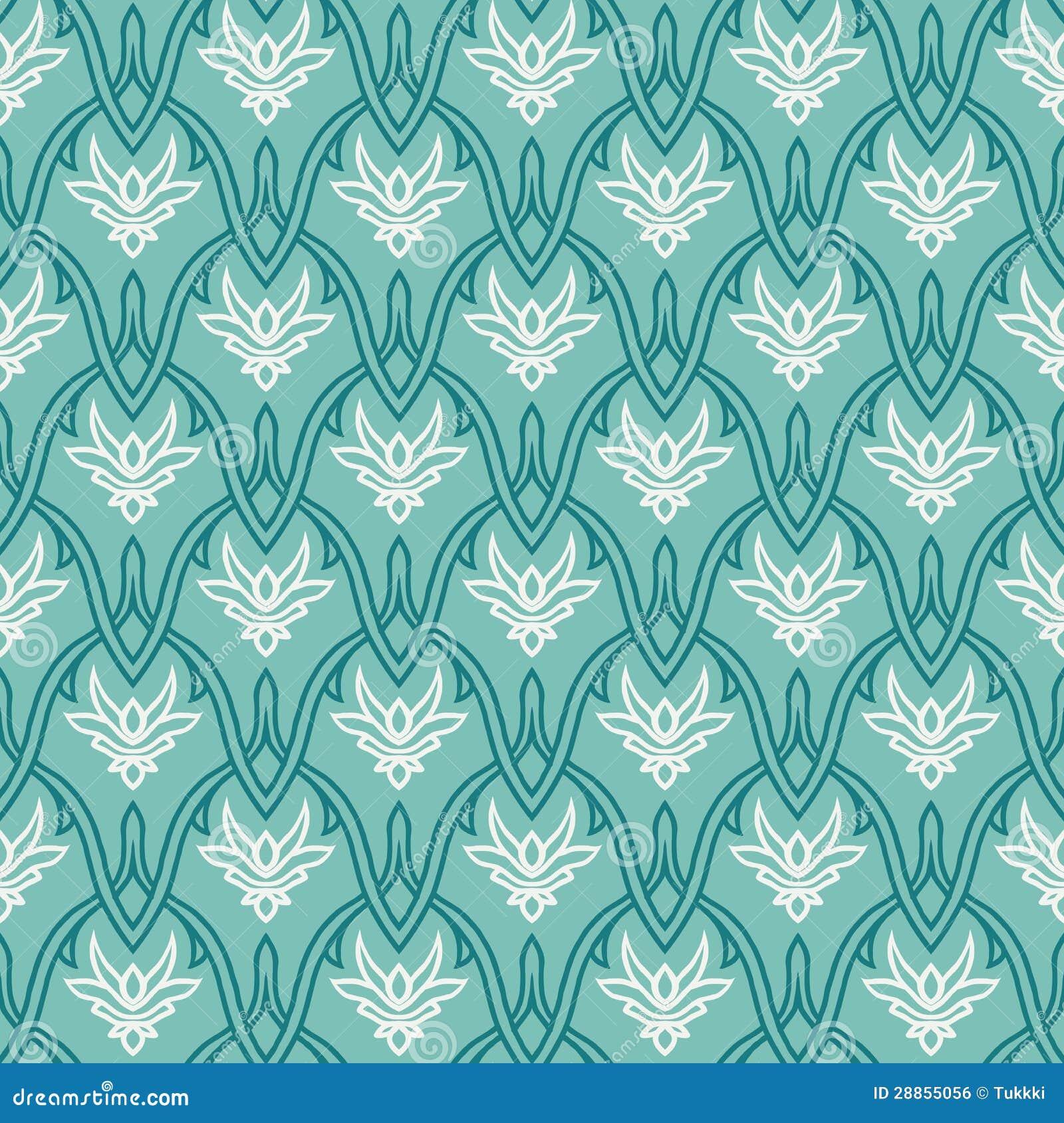 Εκλεκτής ποιότητας πρότυπο με damask τη διακόσμηση, άνευ ραφής