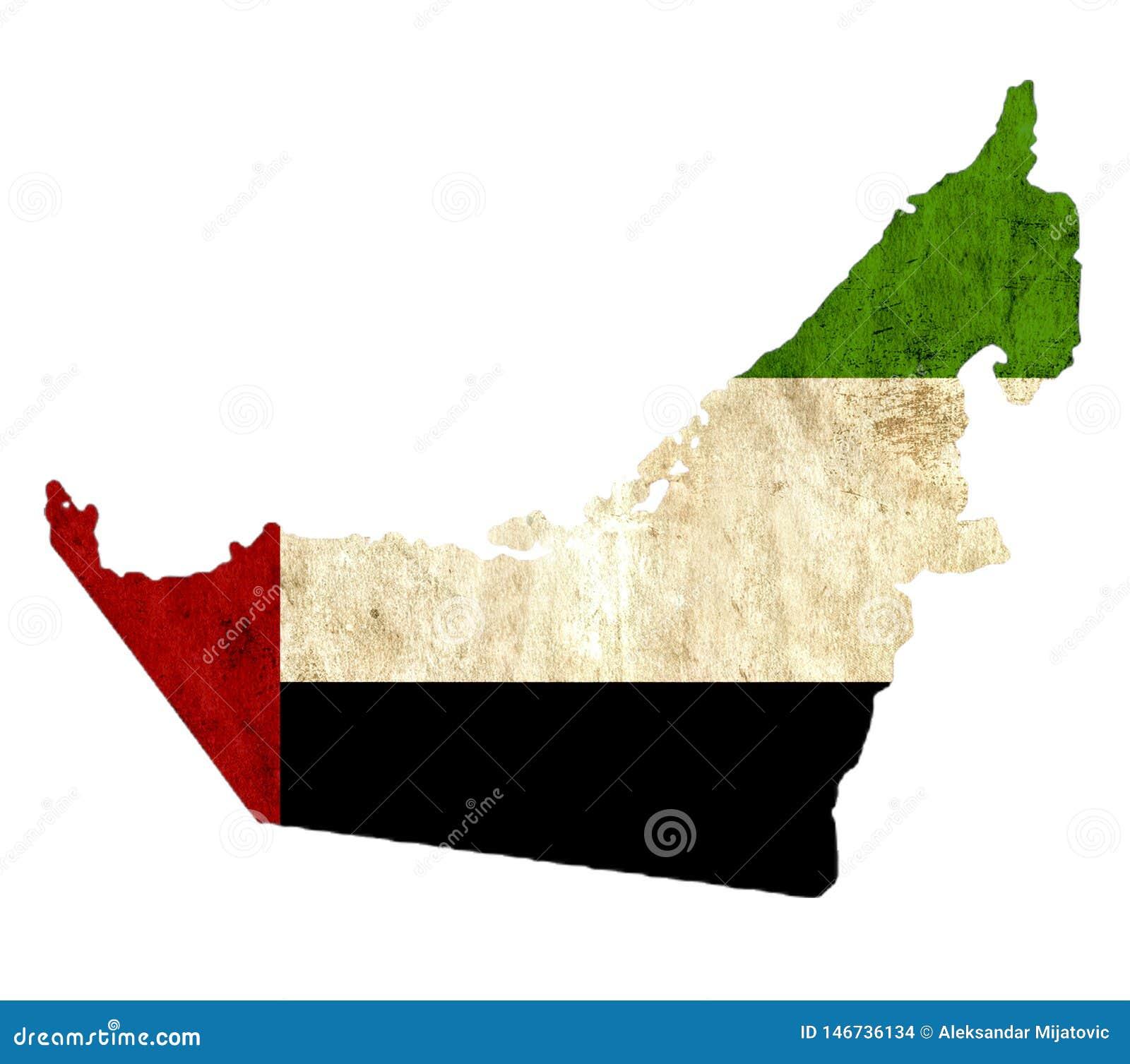 Εκλεκτής ποιότητας χάρτης εγγράφου των Ηνωμένων Αραβικών Εμιράτων