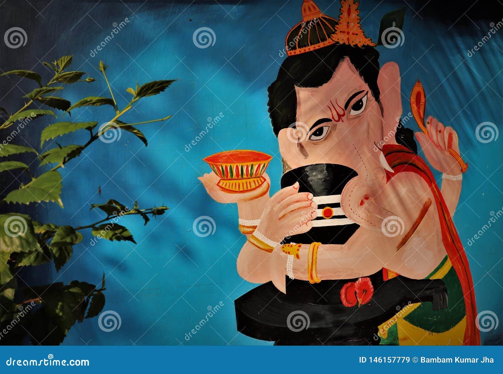 Εκμετάλλευσης εικόνας Θεών Λόρδου ganesh ινδό θρησκευτικό