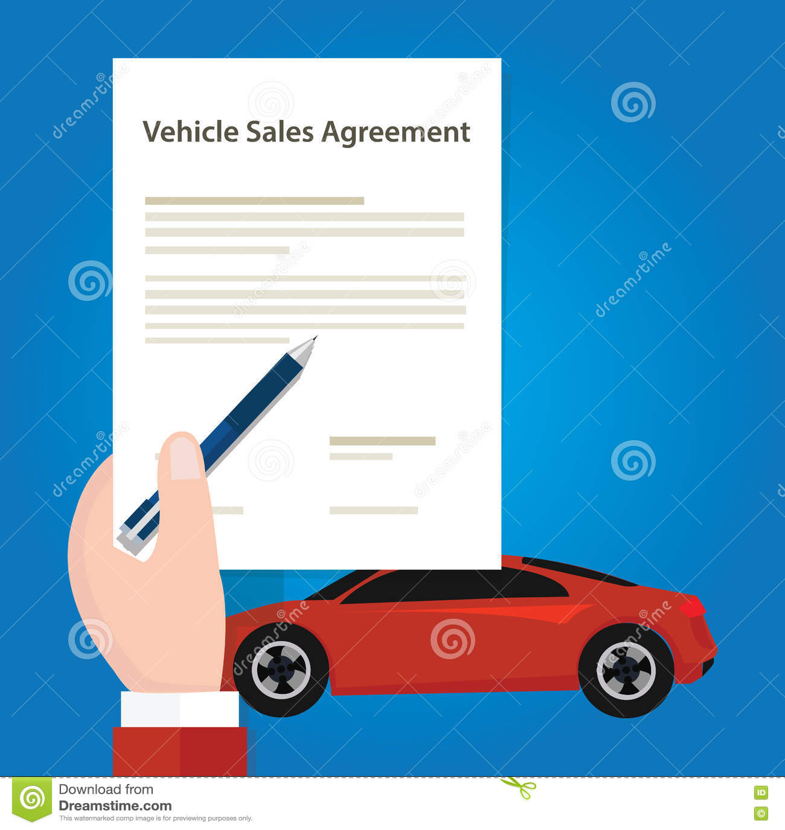 Εκμετάλλευση χεριών αυτοκινήτων εγγράφου εγγράφων συμφωνίας πωλήσεων οχημάτων