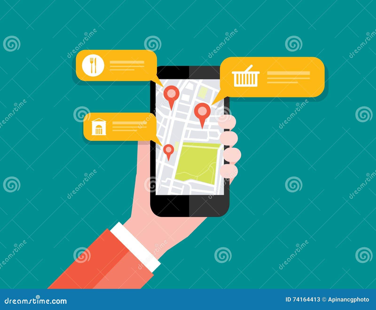 Εκμετάλλευση χεριών κινητή με τη ναυσιπλοΐα θέσης χαρτών κινητό ΠΣΤ
