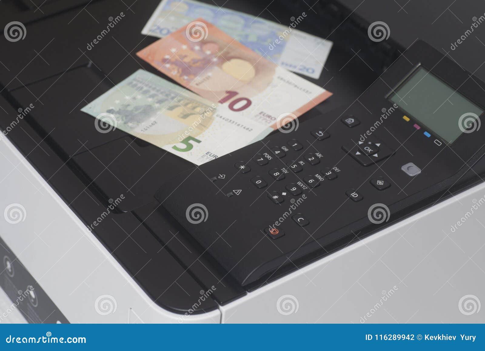 Εκτυπωτής με τα ευρο- χρήματα τραπεζογραμματίων