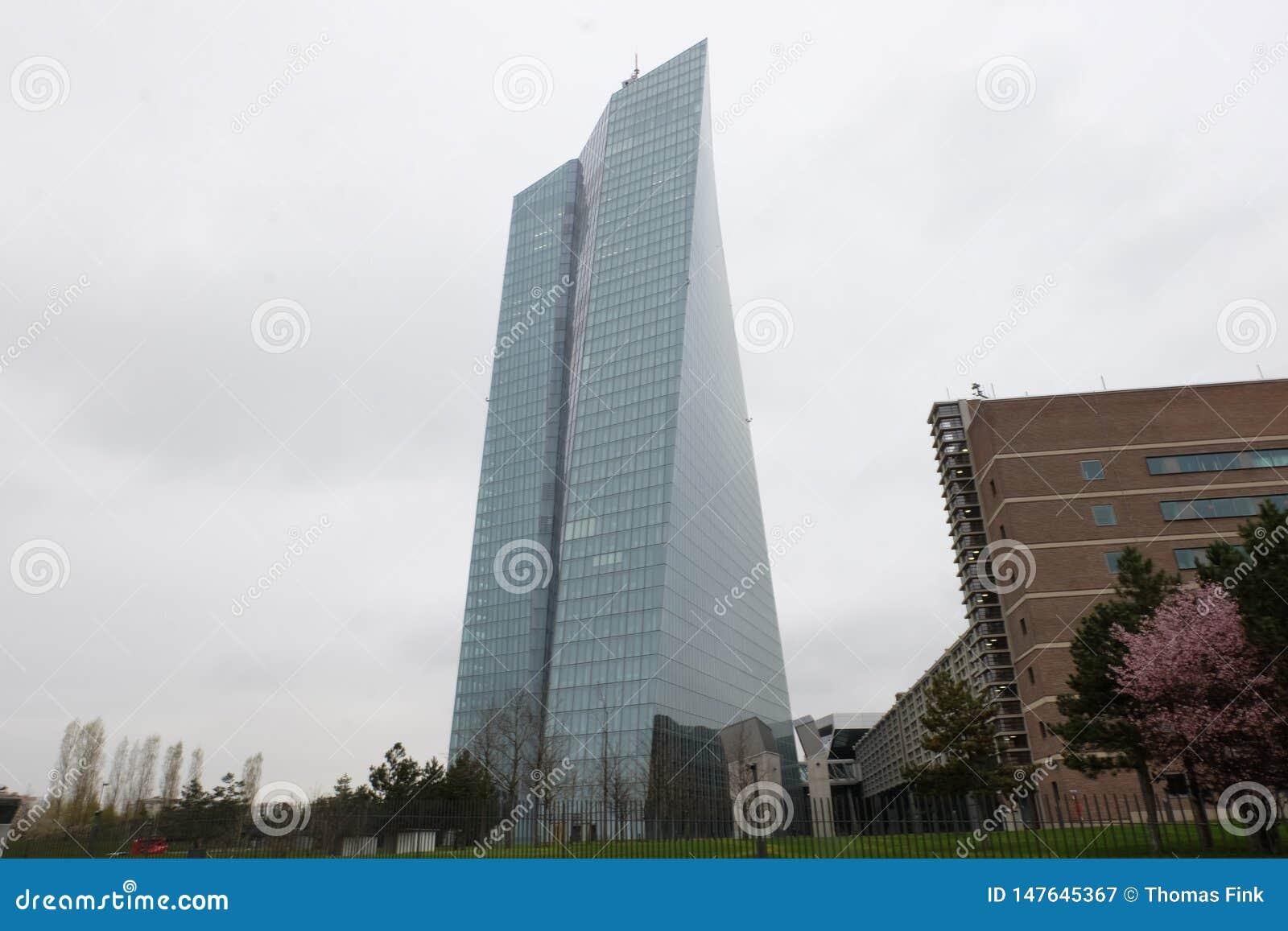 ΕΚΤ Ευρωπαϊκής Κεντρικής Τράπεζας στη Φρανκφούρτη