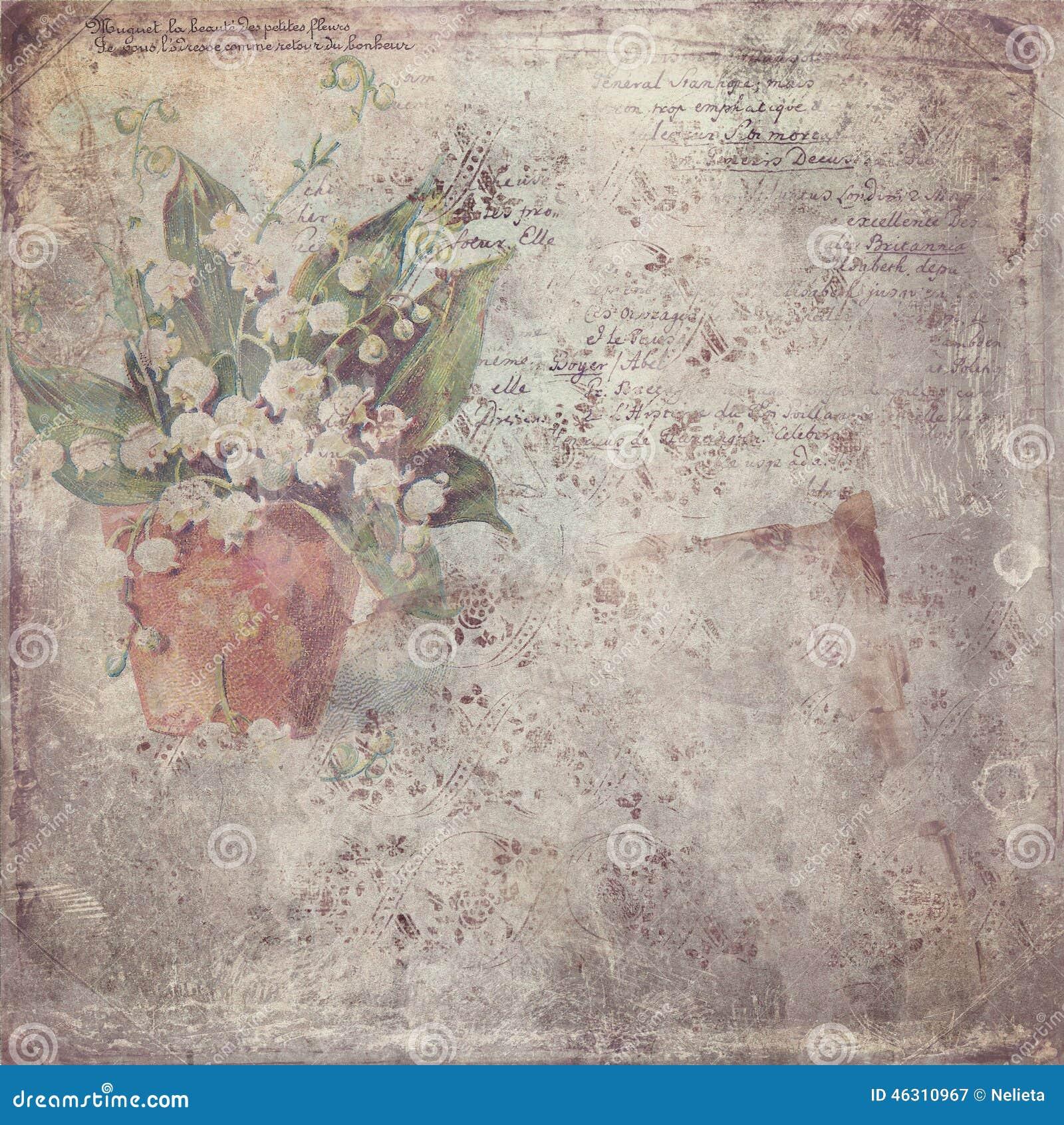 Εκλεκτής ποιότητας έγγραφο με το λουλούδι