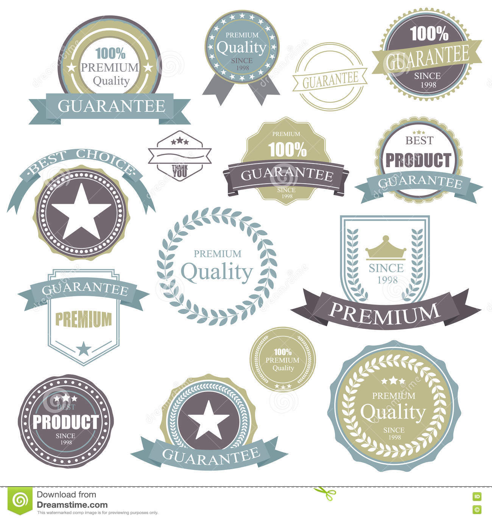 Εκλεκτής ποιότητας αναδρομικό διακριτικό Πλαίσιο ετικετών εξαιρετικής ποιότητας στοιχείων Διακριτικά και εικονίδια καθορισμένα