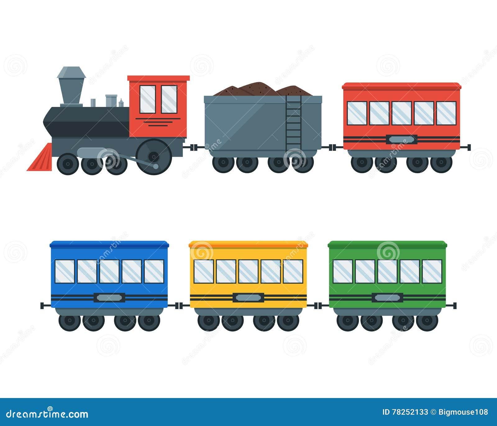 Εκλεκτής ποιότητας αναδρομικό τραίνο μεταφορών διάνυσμα