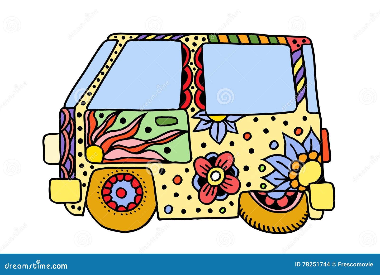 Εκλεκτής ποιότητας αυτοκίνητο χίπηδων ένα μίνι φορτηγό