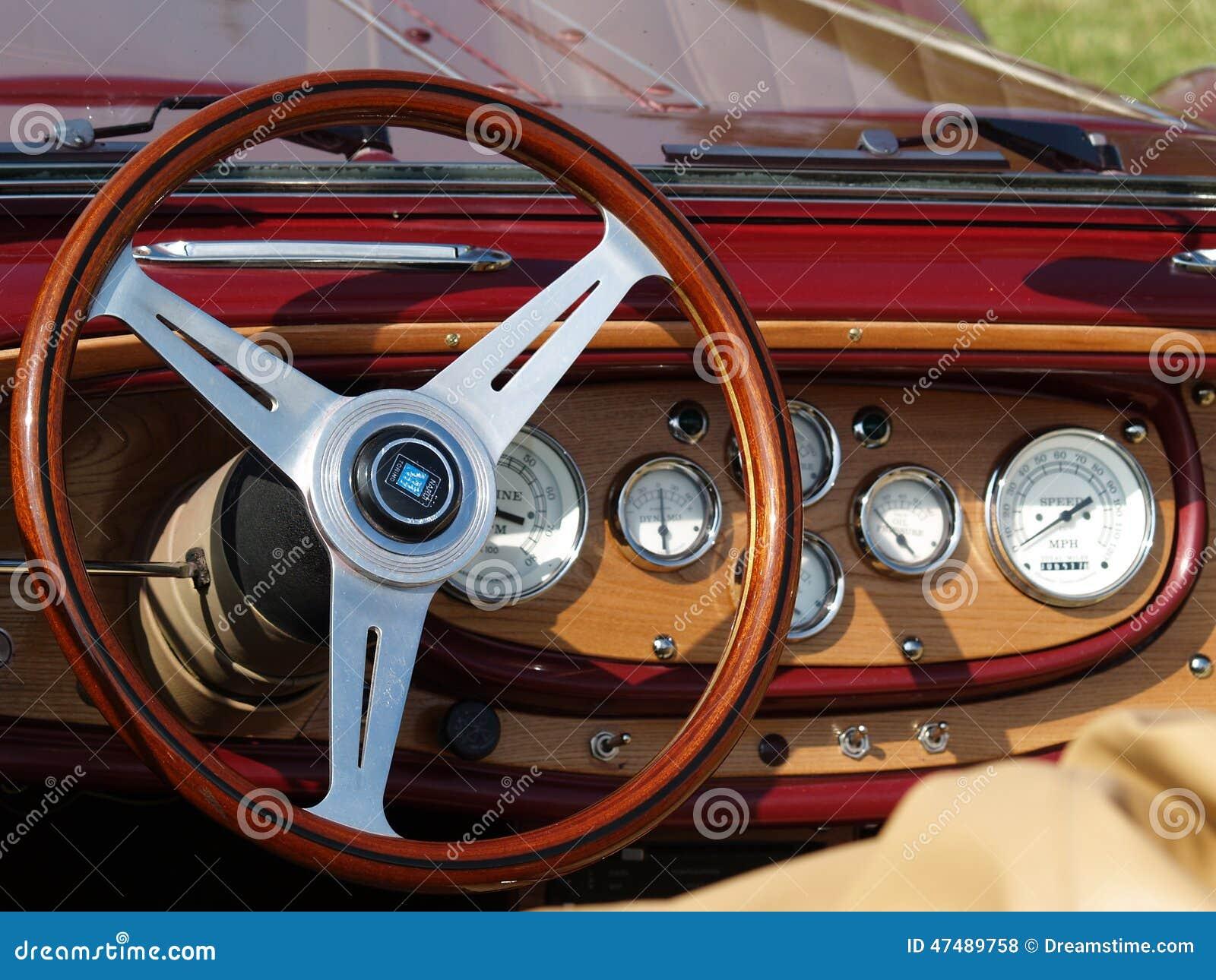 Εκλεκτής ποιότητας λεπτομέρεια ταμπλό αυτοκινήτων