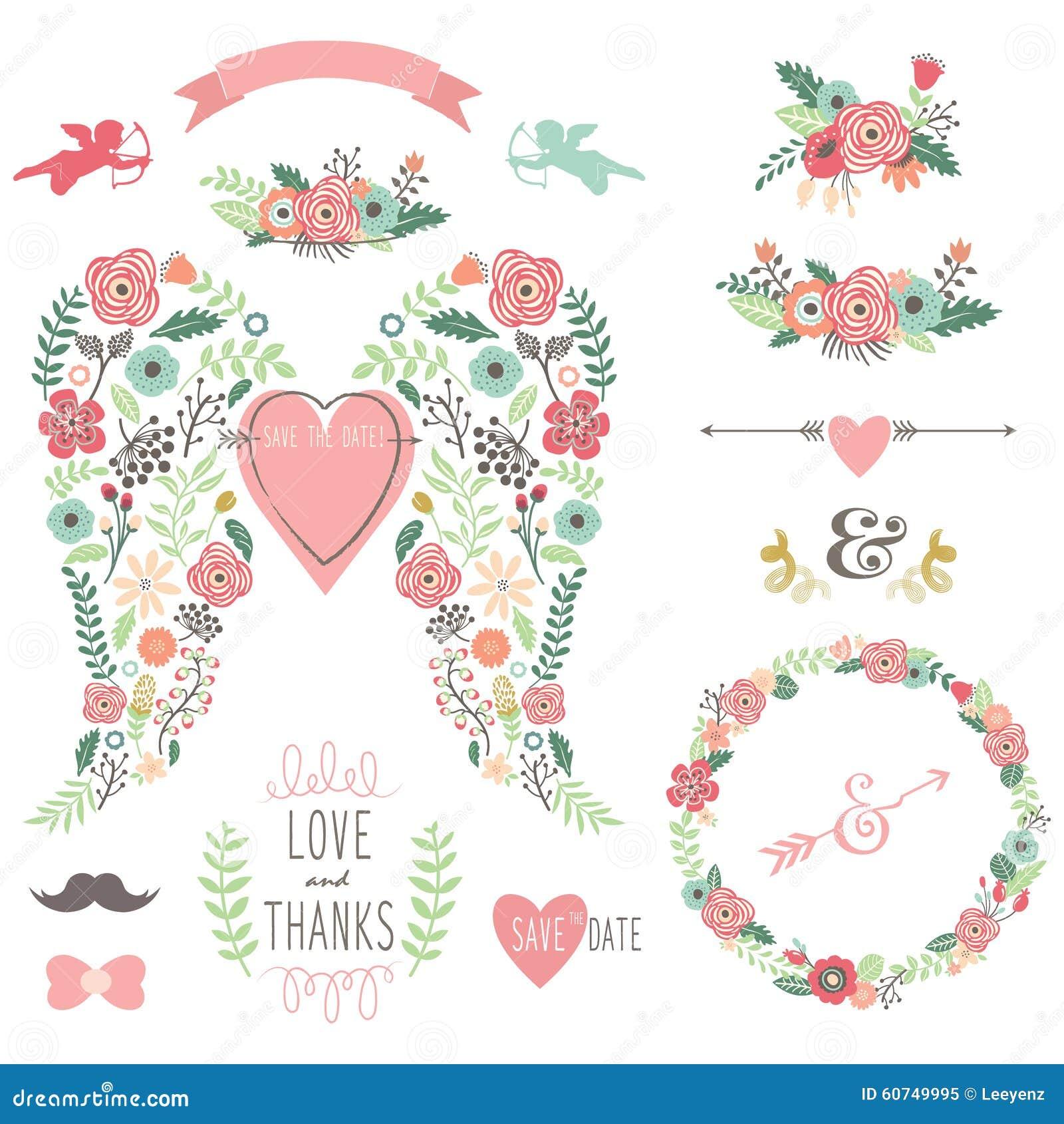 Εκλεκτής ποιότητας στεφάνι λουλουδιών φτερών γαμήλιου αγγέλου