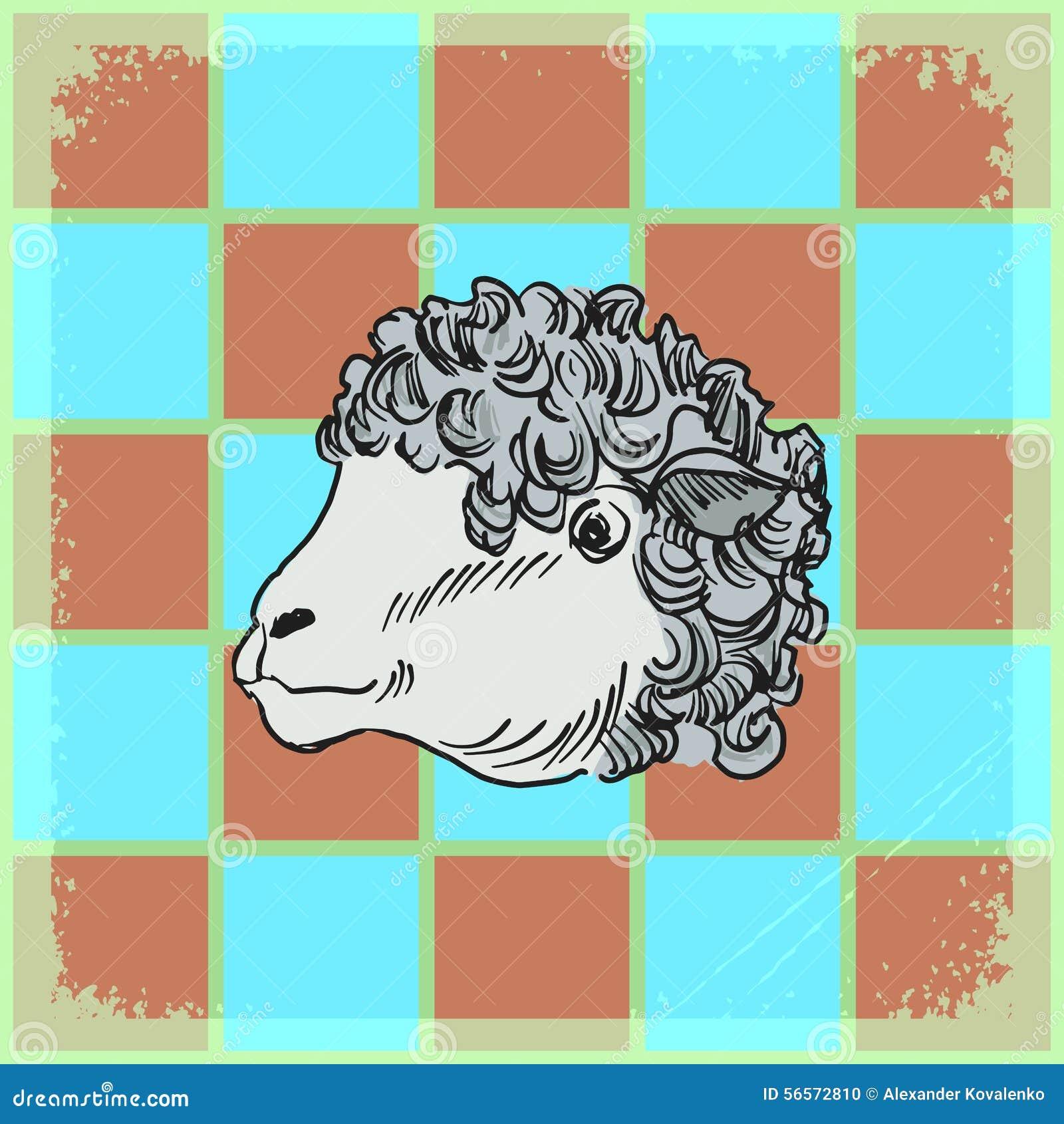 Download Εκλεκτής ποιότητας υπόβαθρο με τα πρόβατα Απεικόνιση αποθεμάτων - εικονογραφία από έγγραφο, scrapbook: 56572810