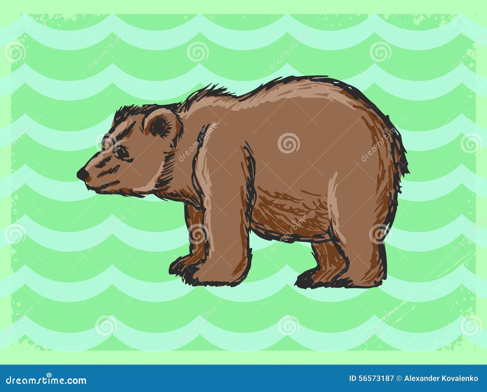 Download Εκλεκτής ποιότητας υπόβαθρο με την αρκούδα Απεικόνιση αποθεμάτων - εικονογραφία από οριοθετημένα, στοιχείο: 56573187