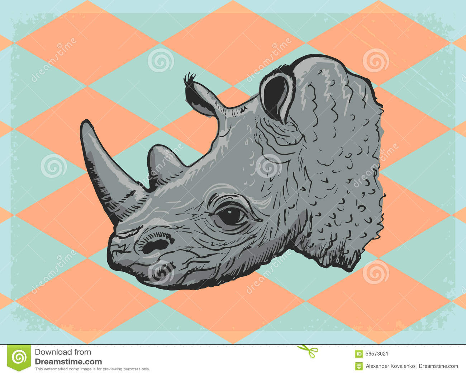 Download Εκλεκτής ποιότητας υπόβαθρο με το ρινόκερο Απεικόνιση αποθεμάτων - εικονογραφία από βρώμικος, τραχύς: 56573021