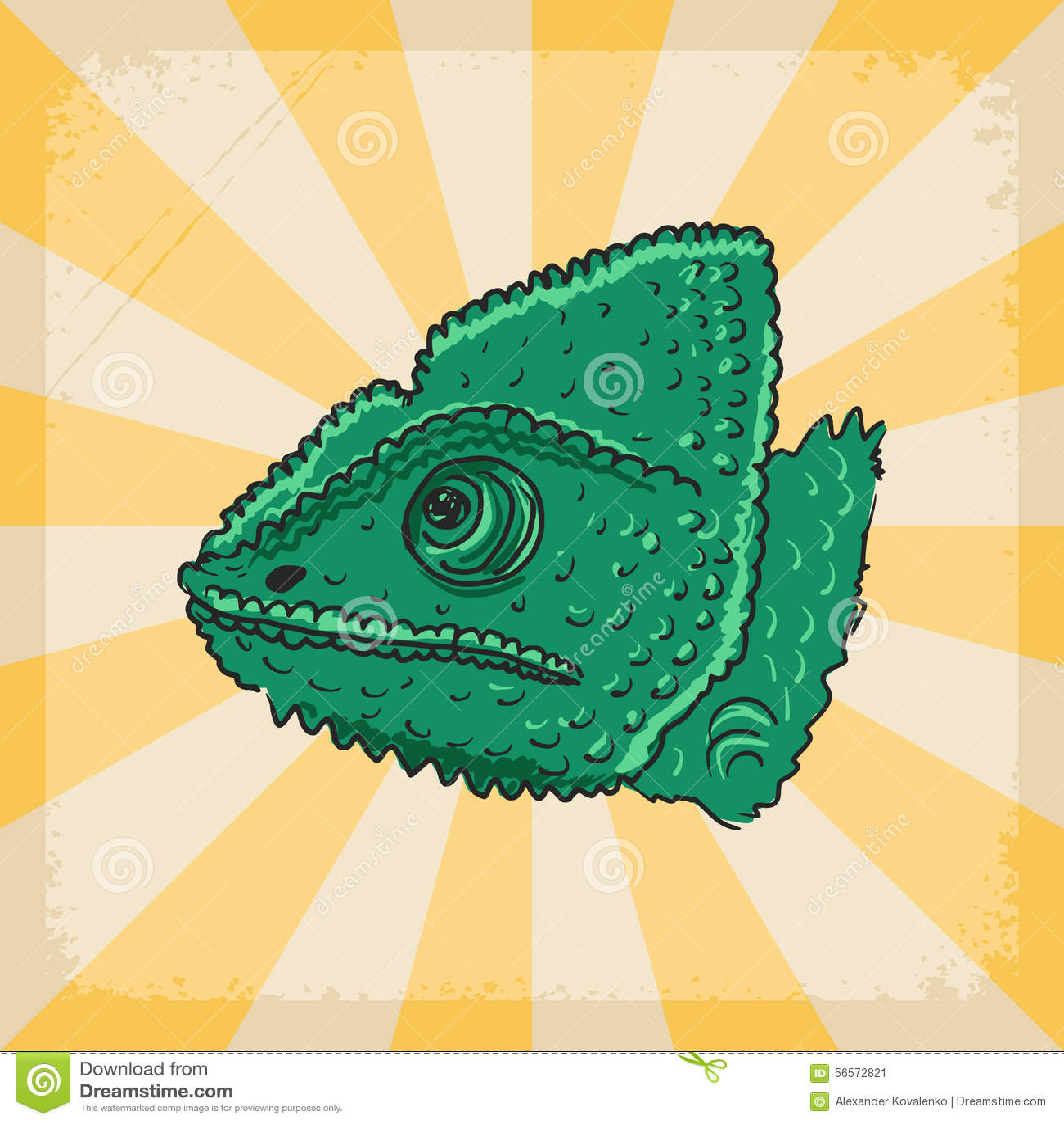 Download Εκλεκτής ποιότητας υπόβαθρο με το χαμαιλέοντα Απεικόνιση αποθεμάτων - εικονογραφία από αναδρομικός, τρύγος: 56572821