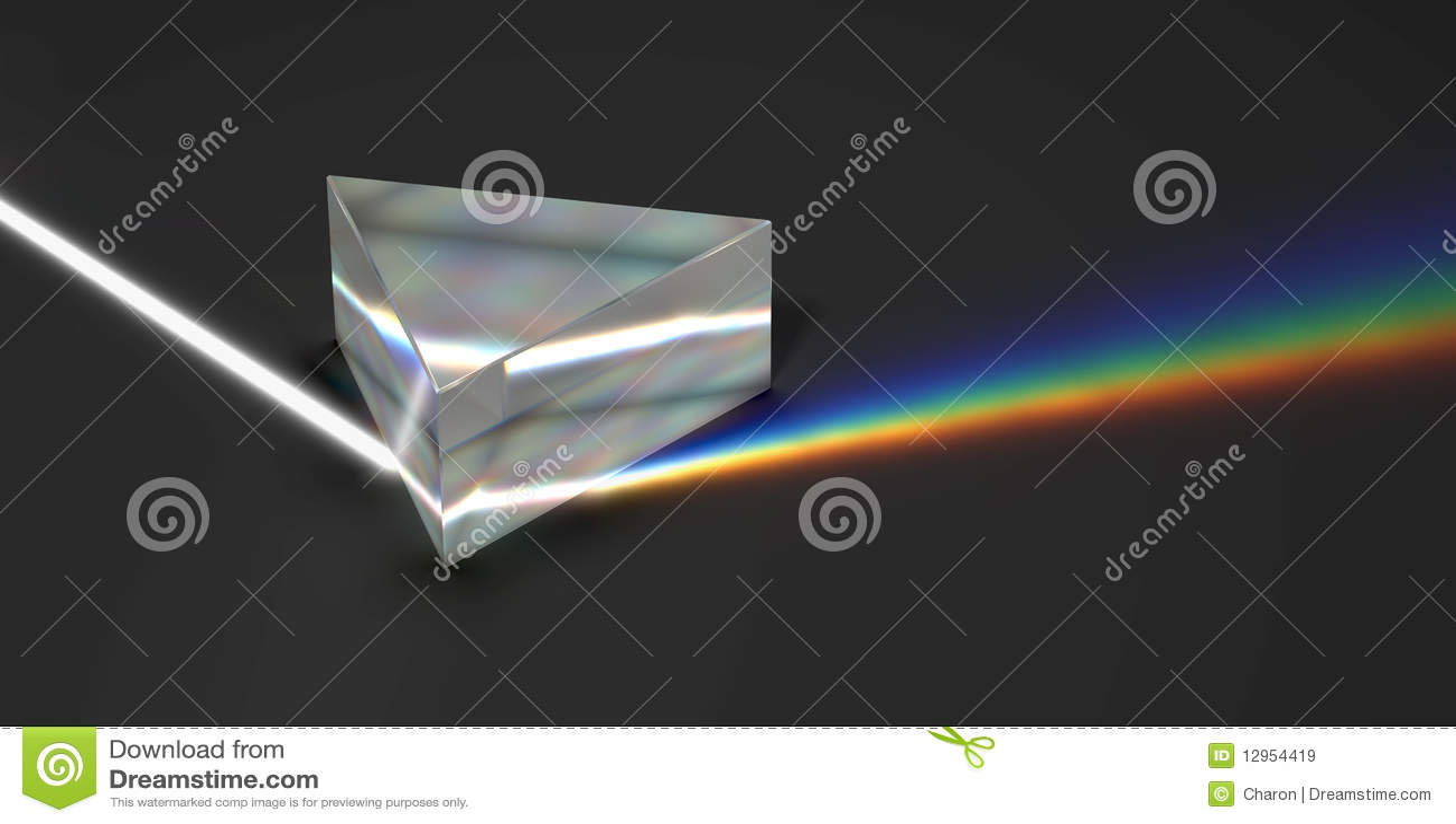 Ελαφριά ακτίνα χρώματος ουράνιων τόξων πρισμάτων οπτική