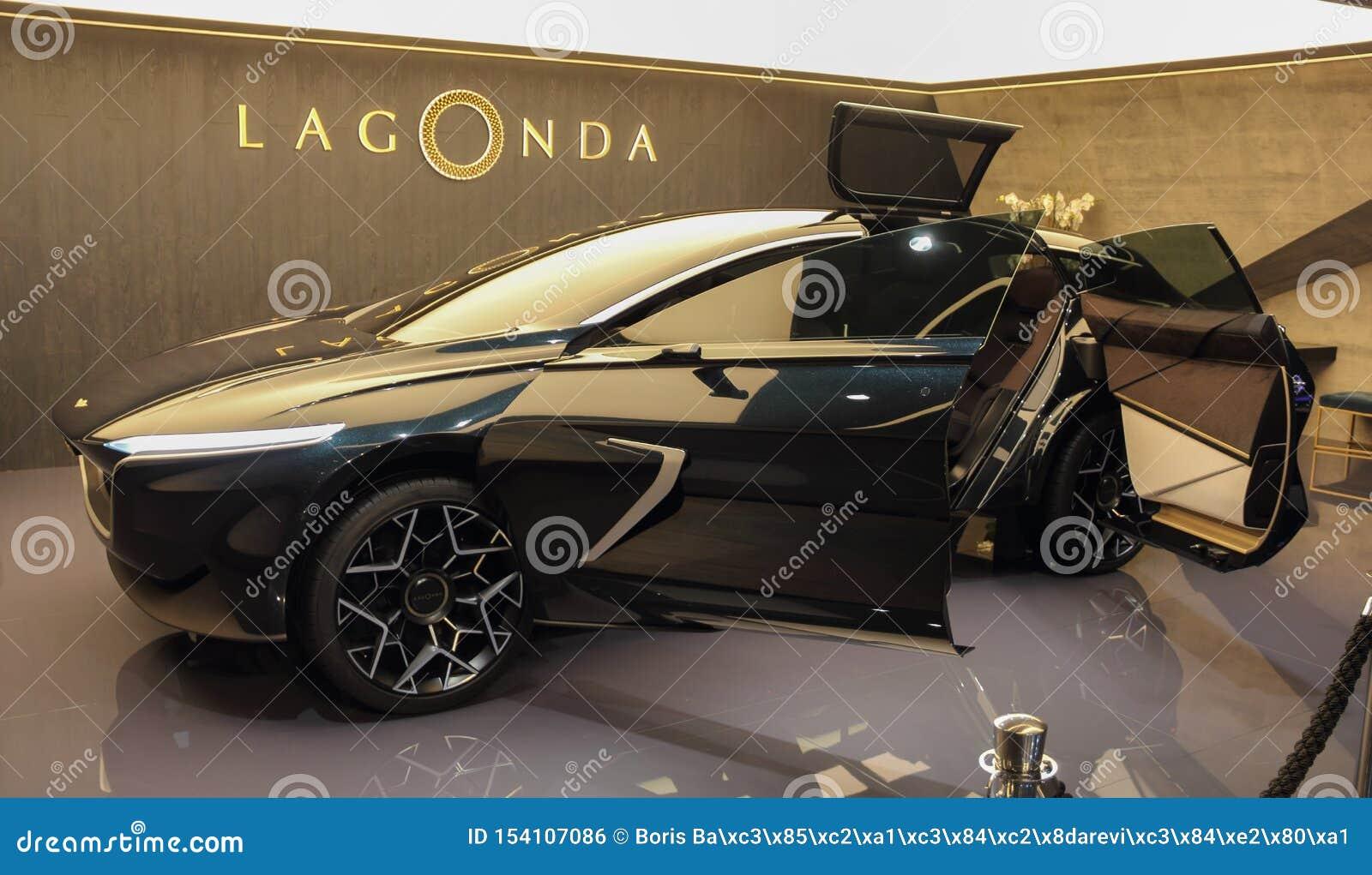 Ελβετία  Γενεύη  Στις 10 Μαρτίου 2019  Άστον Matrin Lagonda  Η 89η διεθνής έκθεση αυτοκινήτου στη Γενεύη από 7ο σε 17ο του Μαρτίο