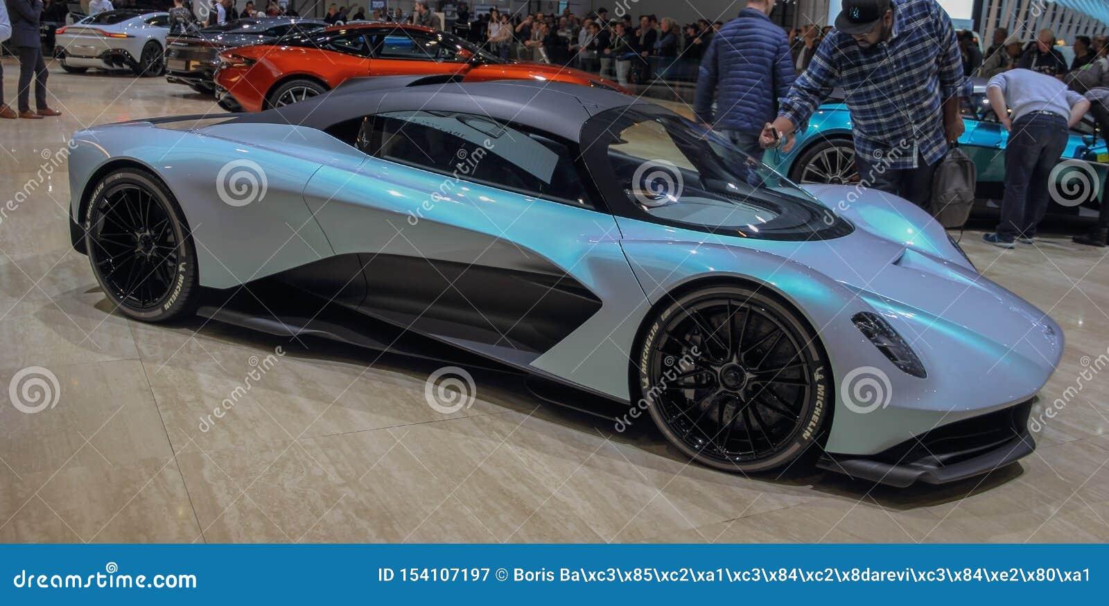 Ελβετία  Γενεύη  Στις 10 Μαρτίου 2019  Είμαι-rb 003 του Άστον Matrin  Η 89η διεθνής έκθεση αυτοκινήτου στη Γενεύη από 7ο σε 17ο τ
