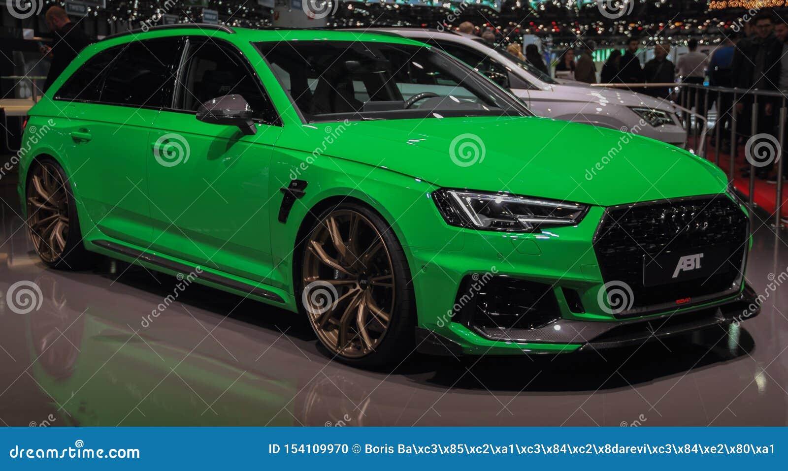 Ελβετία  Γενεύη  Στις 10 Μαρτίου 2019  Audi ABT RS4  Η 89η διεθνής έκθεση αυτοκινήτου στη Γενεύη από 7ο σε 17ο του Μαρτίου του 20