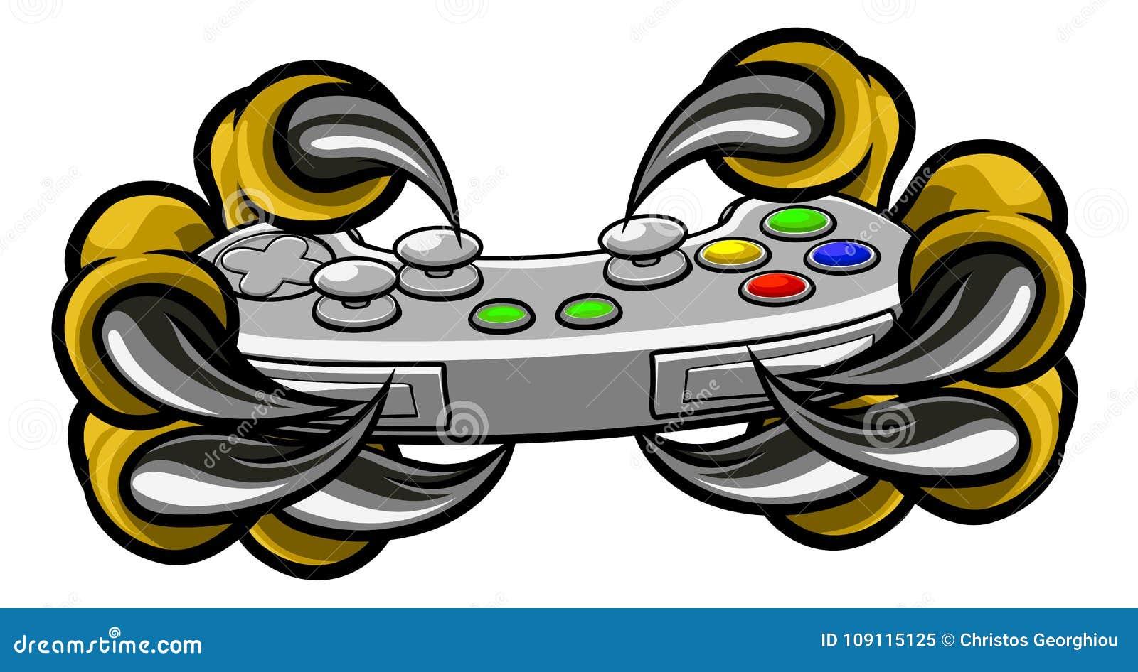 Ελεγκτής παιχνιδιών εκμετάλλευσης νυχιών Gamer τεράτων