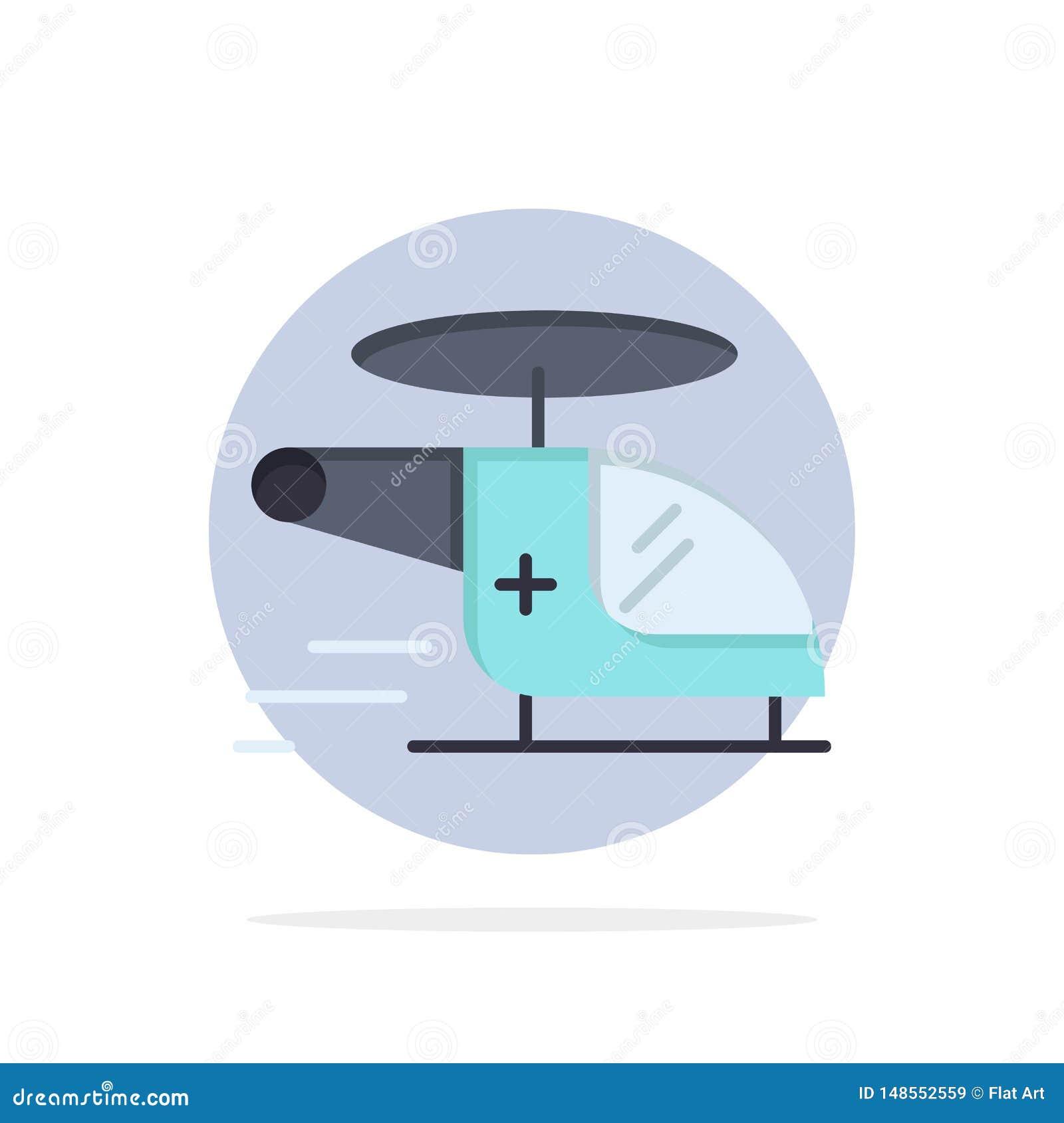 Ελικόπτερο, μπαλτάς, ιατρικός, ασθενοφόρο, αέρα αφηρημένο κύκλων εικονίδιο χρώματος υποβάθρου επίπεδο