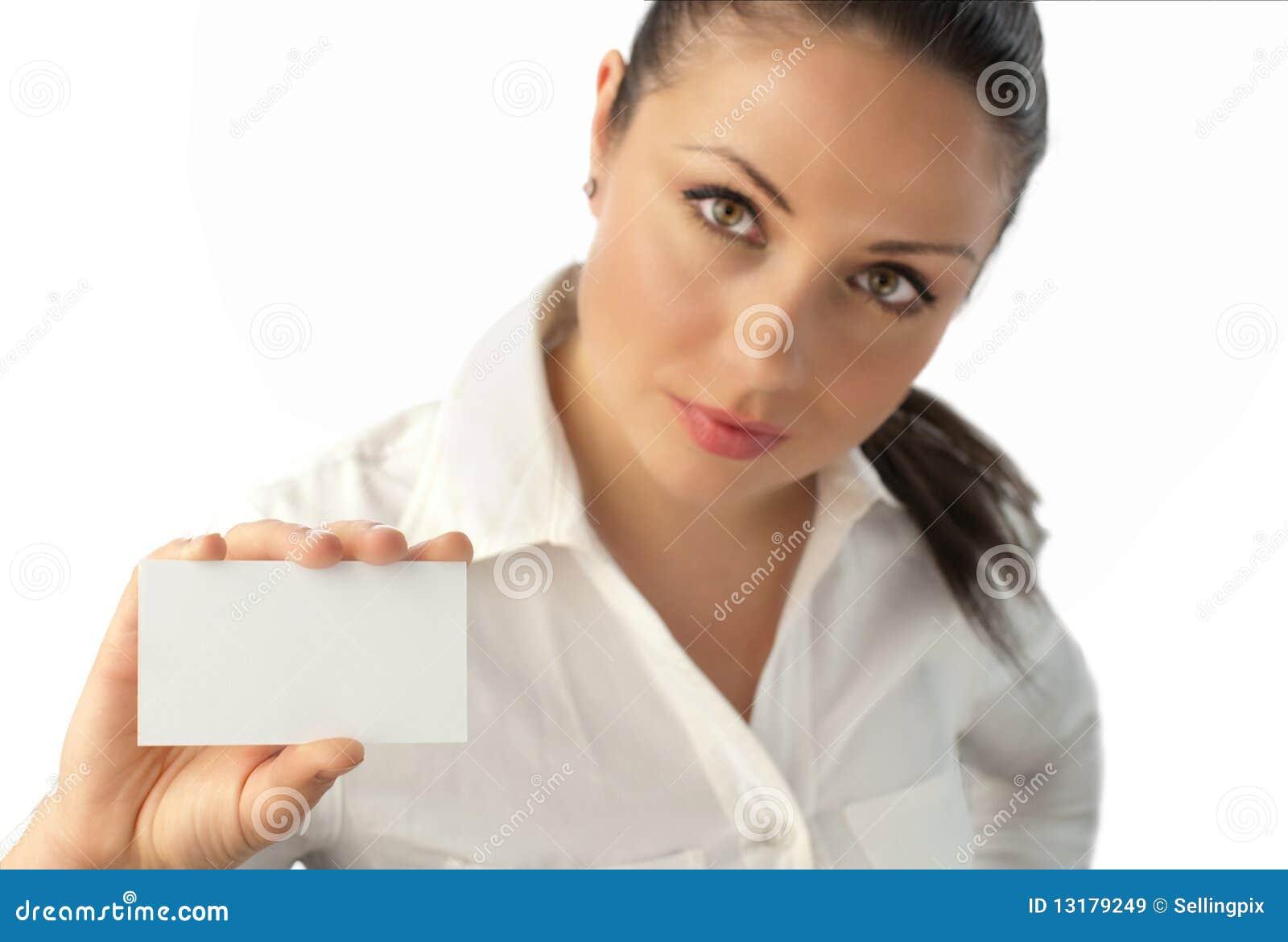ελκυστική κάρτα επιχειρ