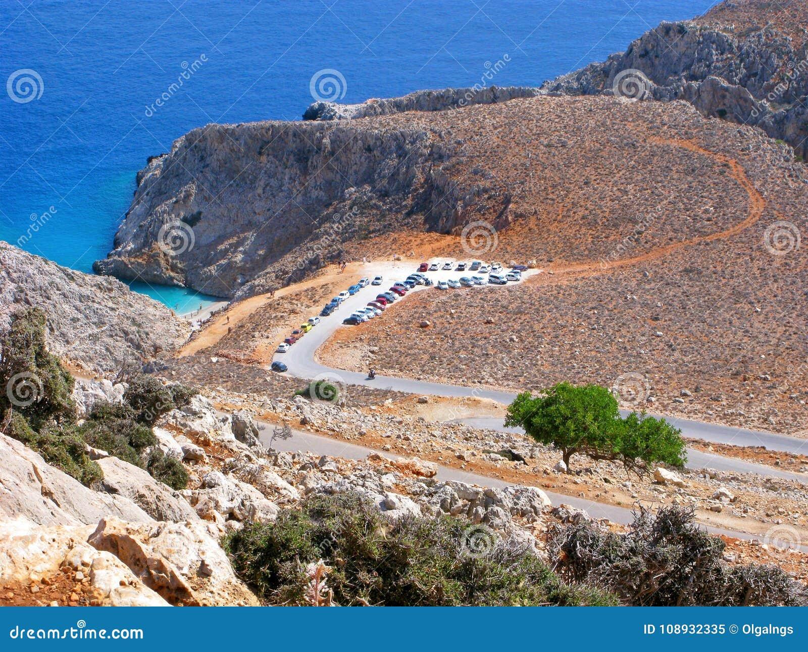 Ελλάδα, Κρήτη, τοπ άποψη της παραλίας Seitan Limania