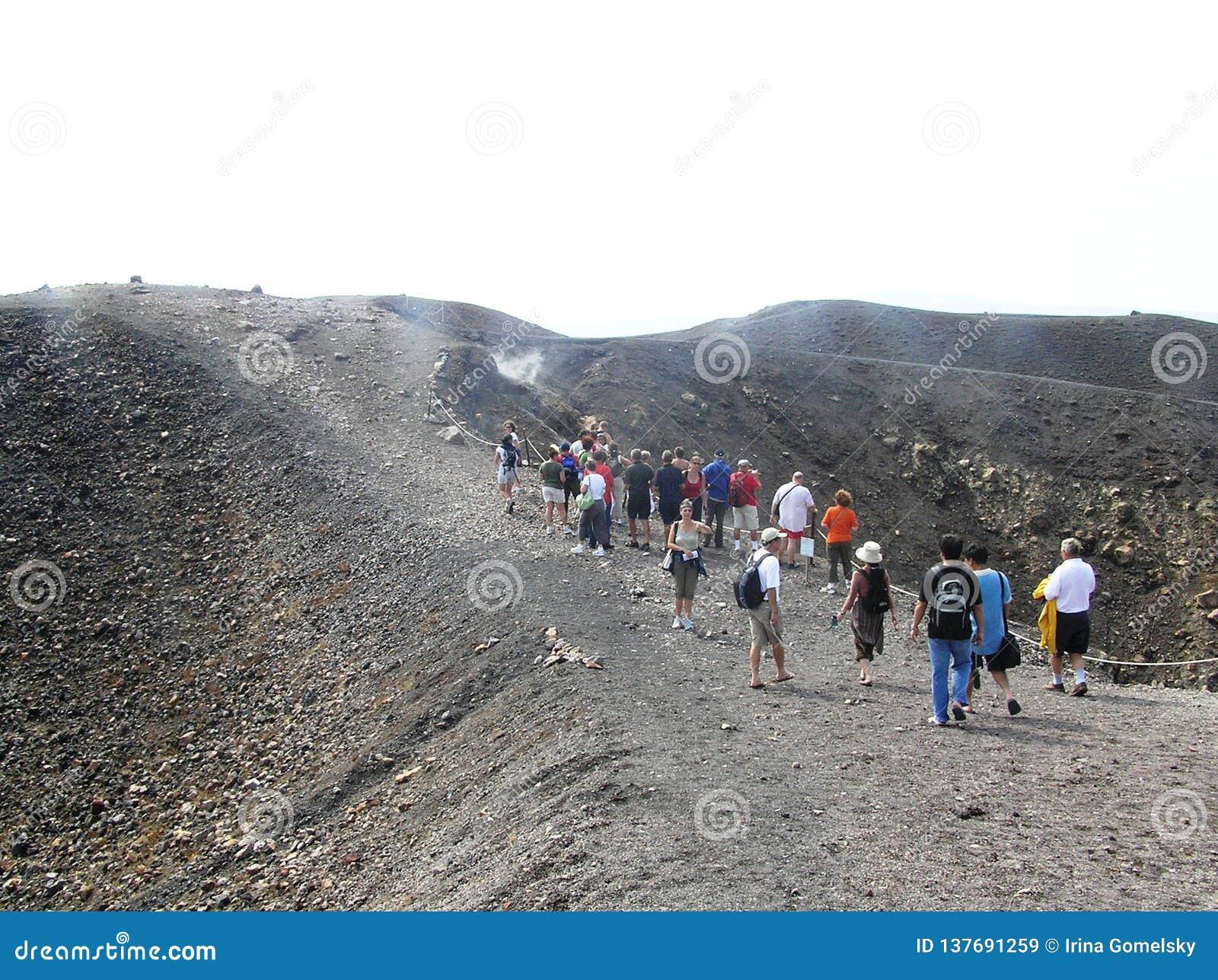 Ελλάδα, το ηφαίστειο Nea Kameni νησιών caldera Santorini