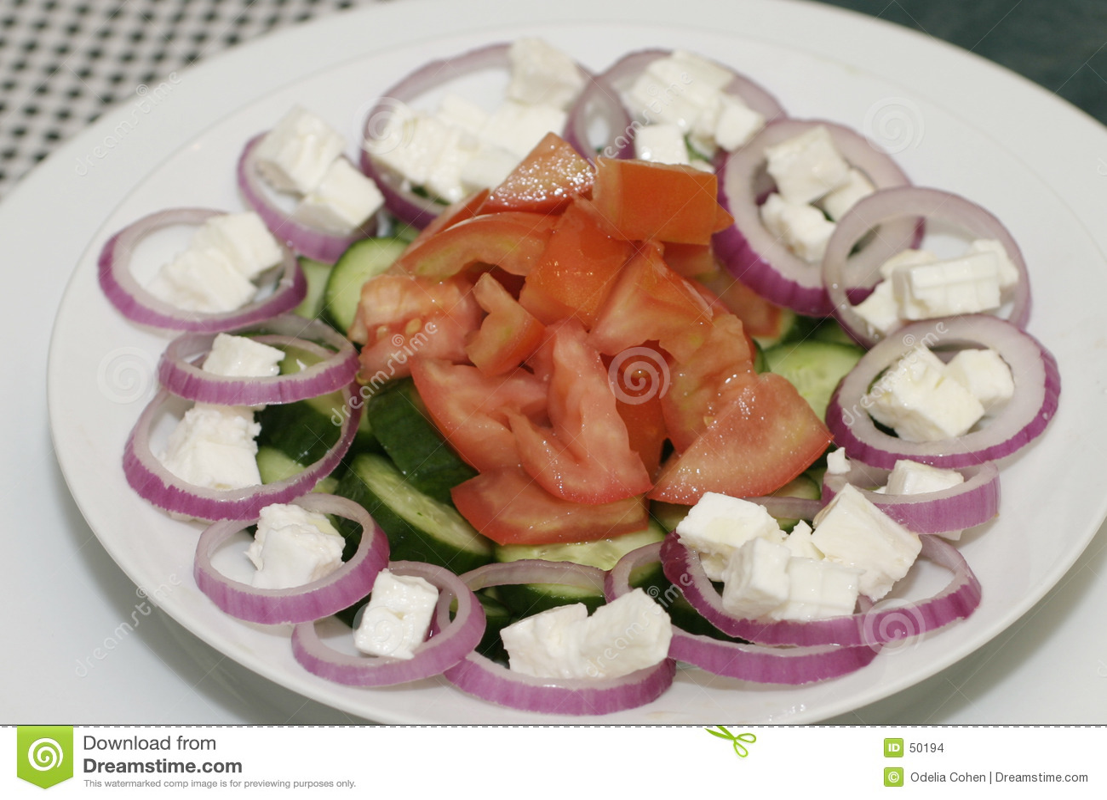Download ελληνική σαλάτα στοκ εικόνες. εικόνα από ελλάδα, ζωηρόχρωμος - 50194