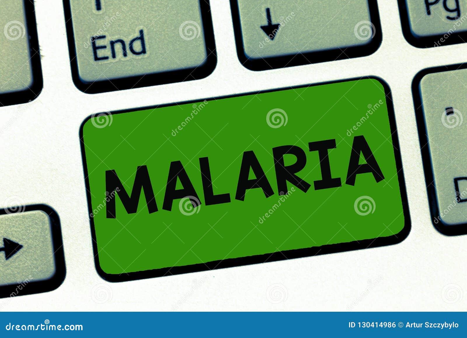 Ελονοσία κειμένων γραψίματος λέξης Επιχειρησιακή έννοια για τις απειλητικές για τη ζωή μεταδιδόμενες με τα κουνούπια περιόδους ασ